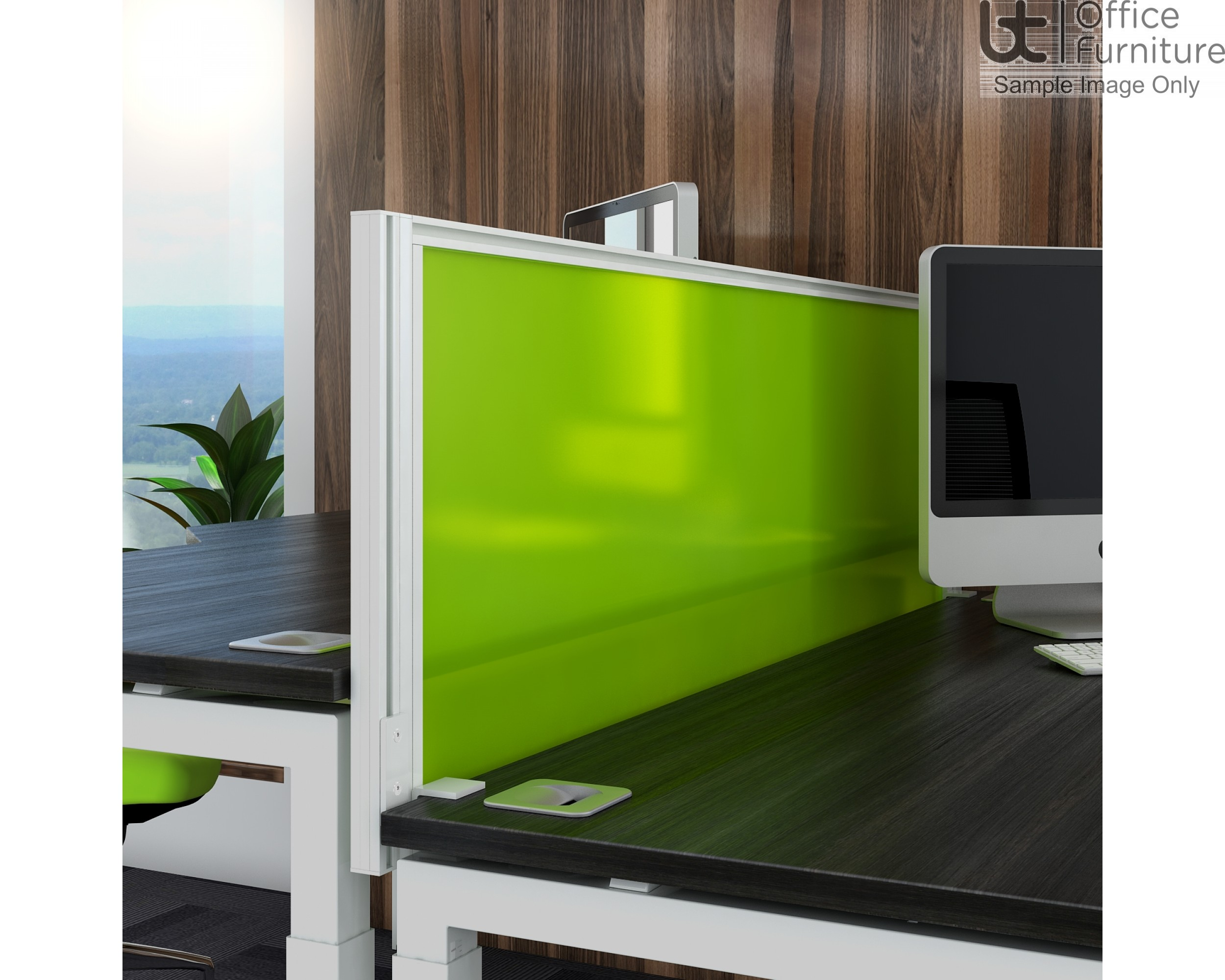 Elite System Screen End Return with Management Rail - Acrylic