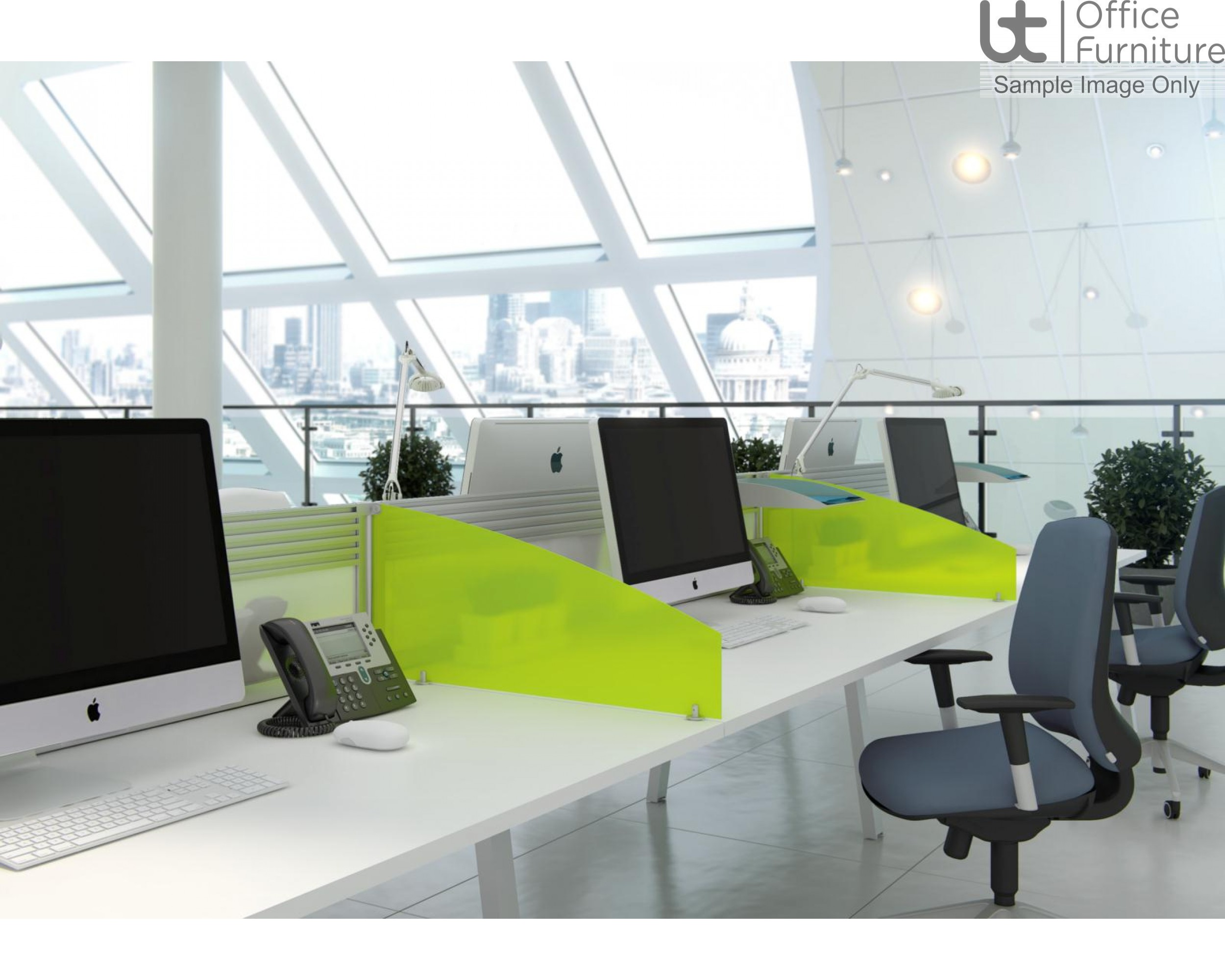 Elite Bench System Screen with Management Rail - Fabric