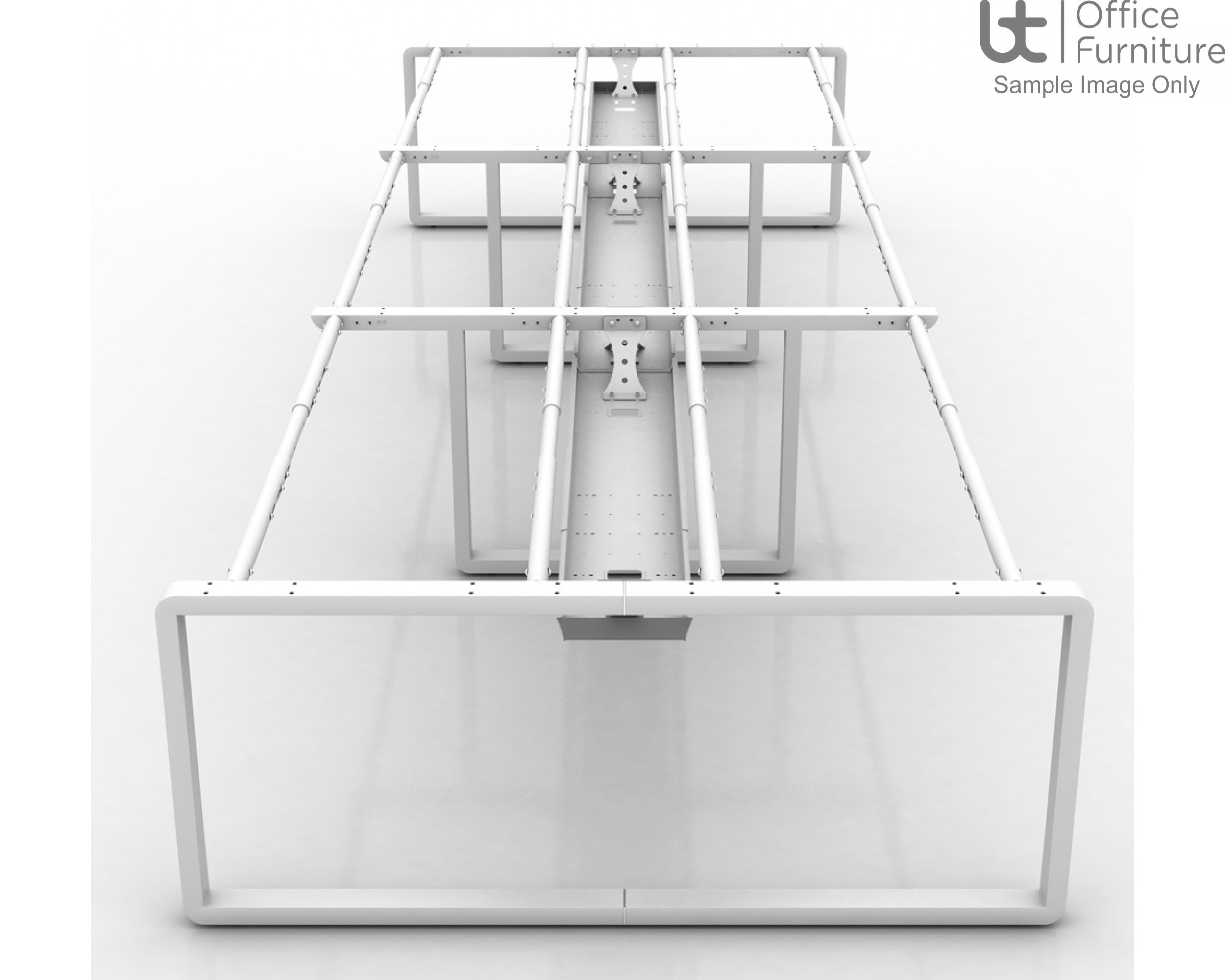 Arc Back To Back Starter Module Desk 1250mm Deep Inc Telescopic Cable Tray
