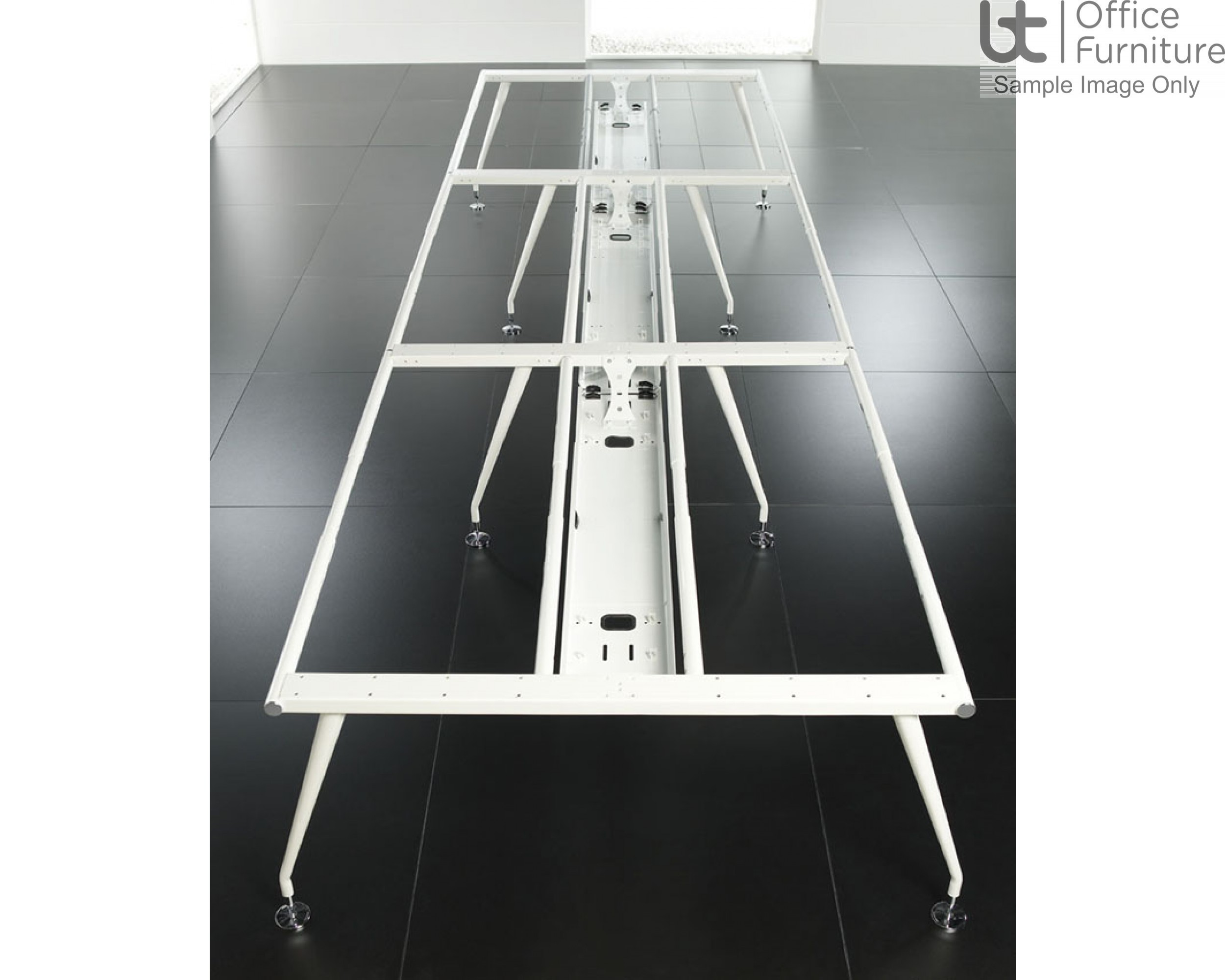 Vega Back To Back Add-On Module Beam Desk 1650mm Deep Inc Telescopic Cable Tray
