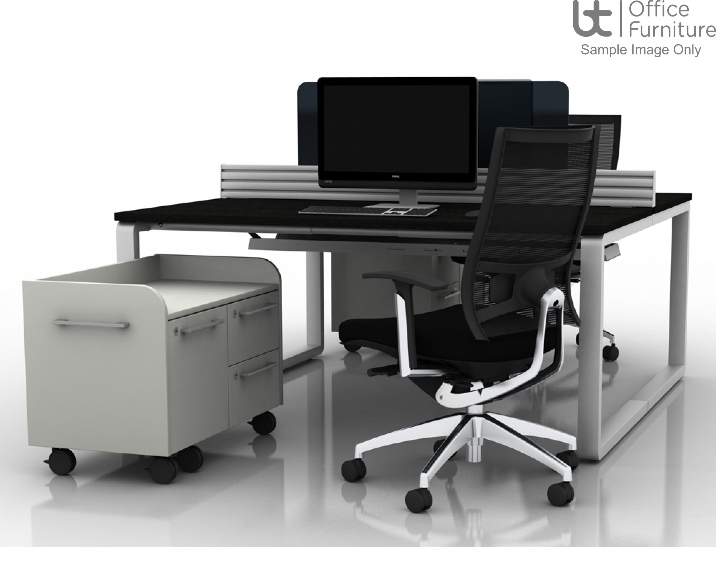 Arc Crescent Desk 800D x 600Dmm - Right Hand Illustrated