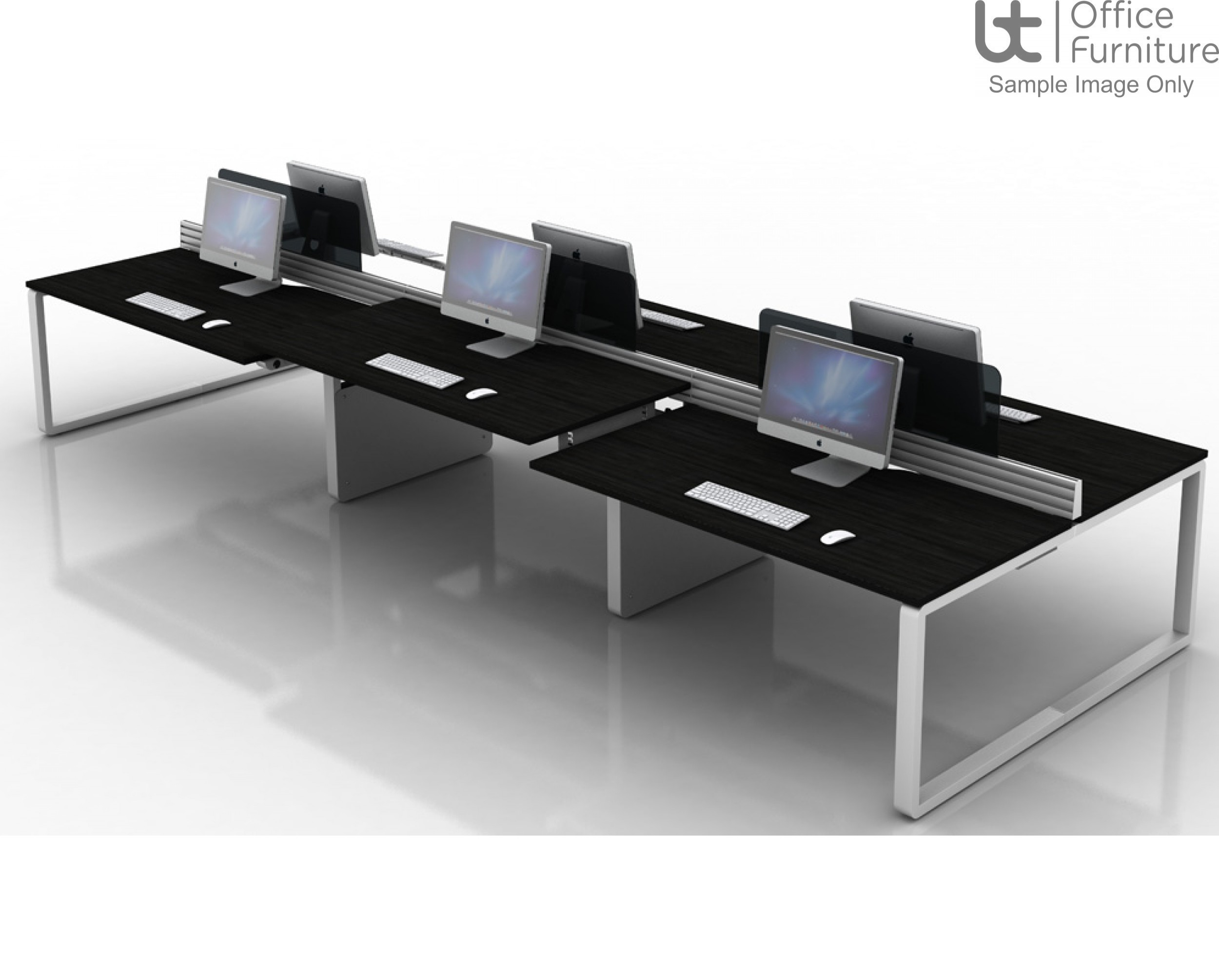 Arc Extended Crescent Desk 800D x 600Dmm - Right Hand Illustrated