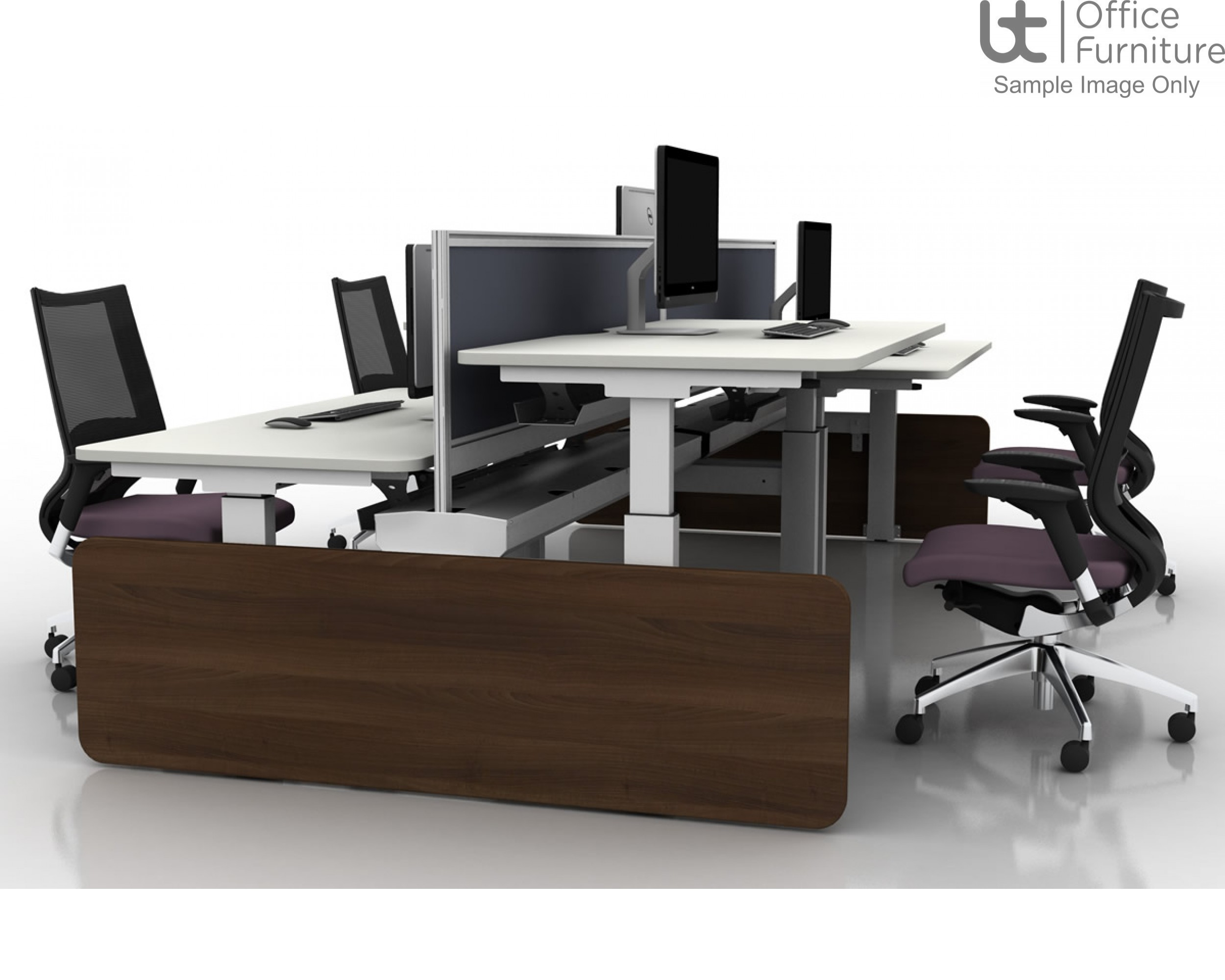 Move Electric Rectangular Height Adjustable Back To Back Sit-Stand Desk