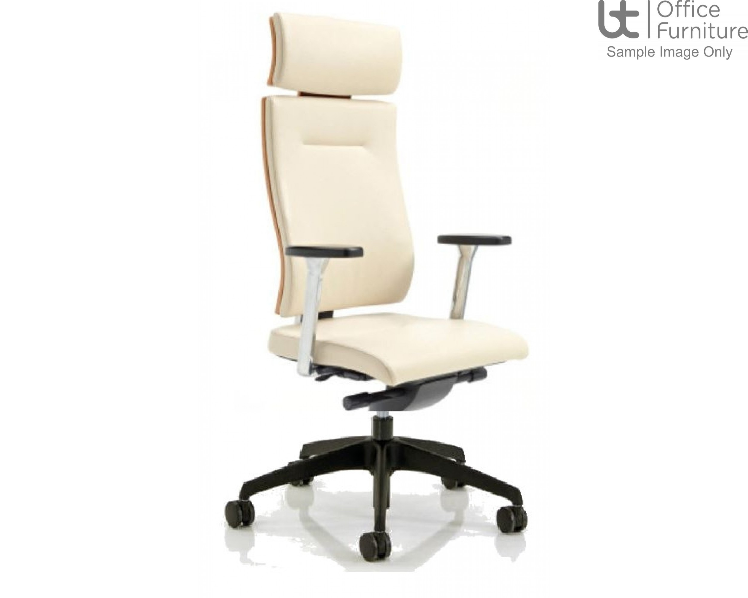 Verco Executive seating - Vibe Show Wood High Back Task Chair with Arms