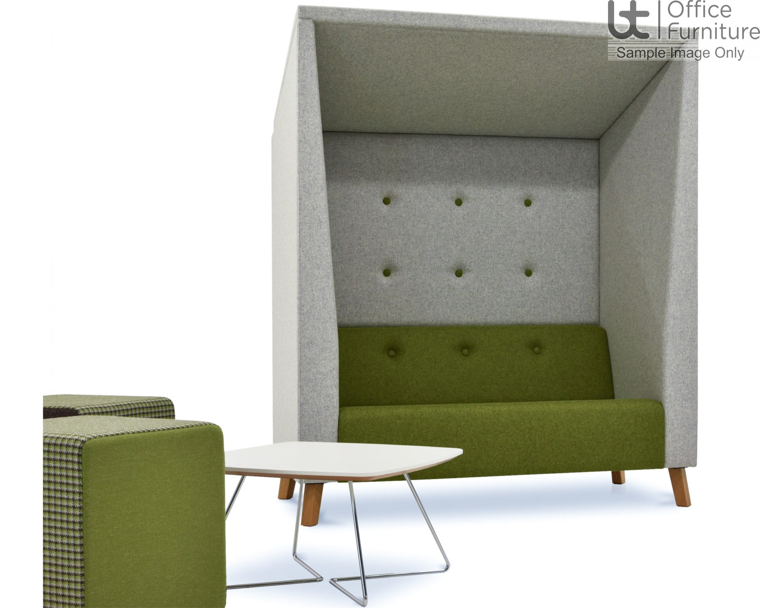 Verco Pod/Booth - Jensen Shelter Two Person Soft Seating Unit