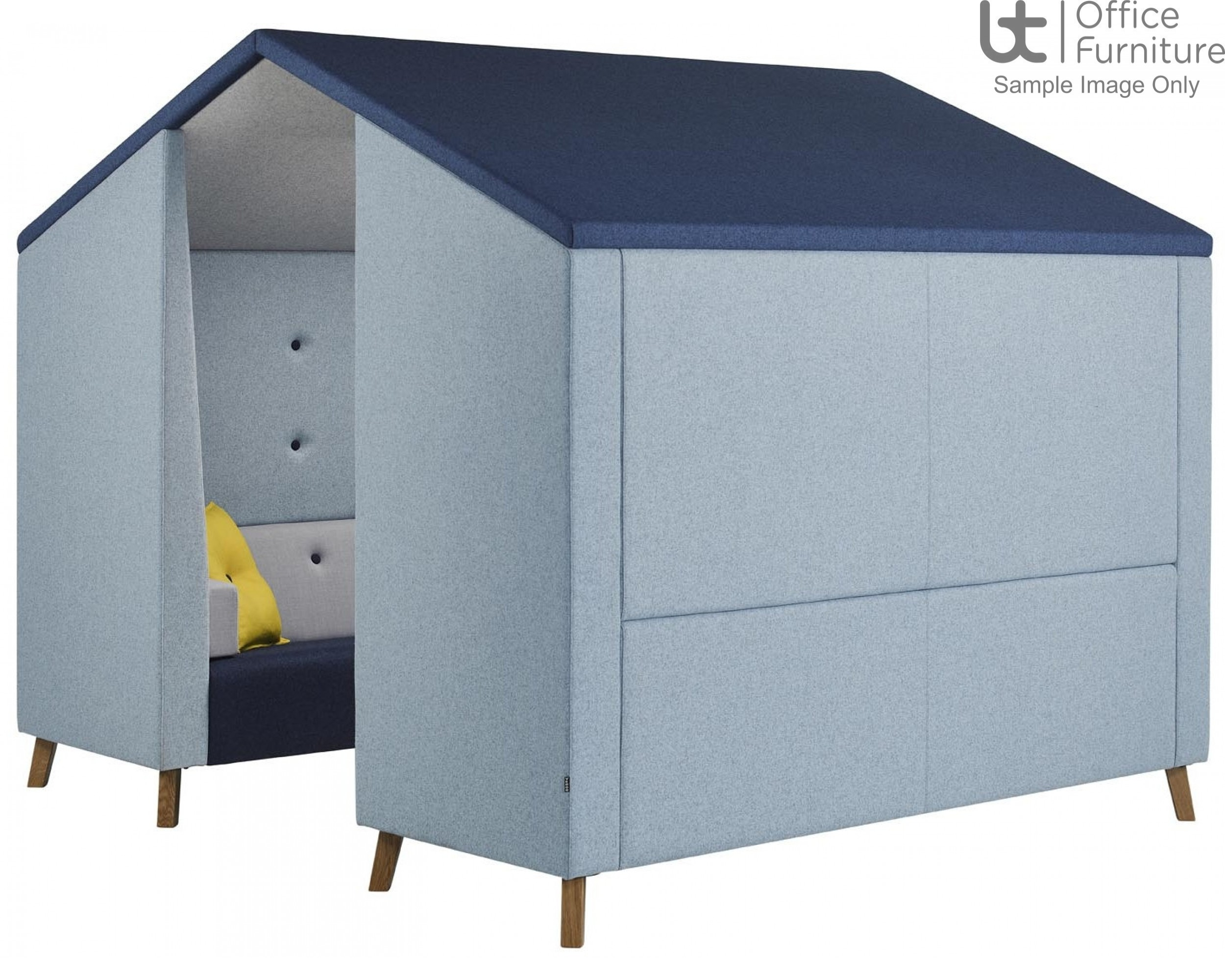 Verco Pod/Booth - Jensen Hut Four-Person Unit, with Acoustic Surround and Upholstered Roof