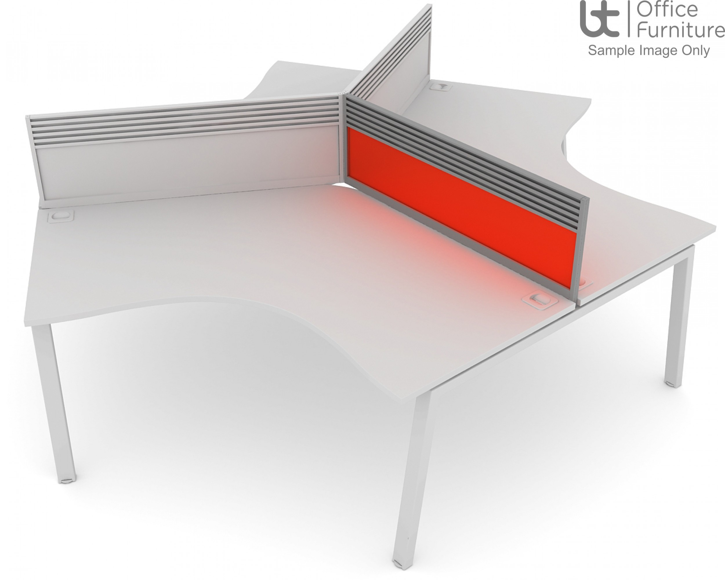 Elite Linnea System Screen - Acrylic 120 Degree Screen with Management Rail