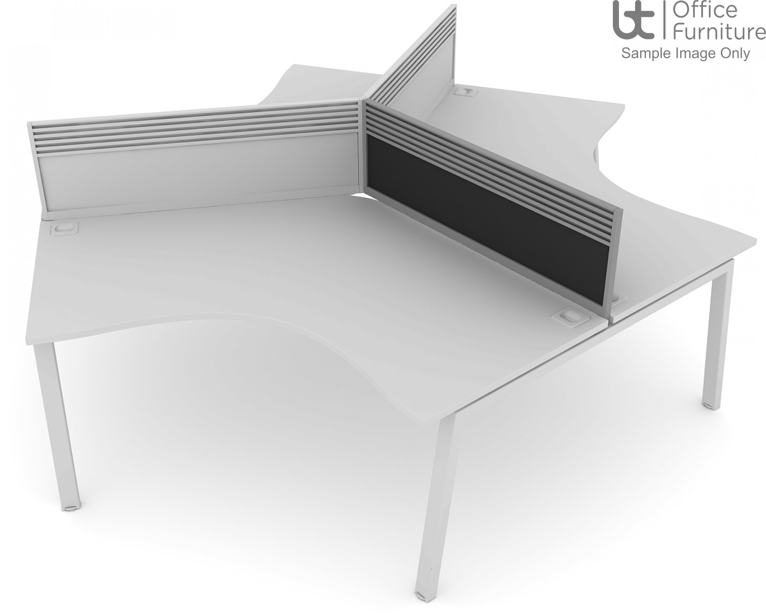 Elite Linnea System Screen - Fabric 120 Degree Screen with Management Rail