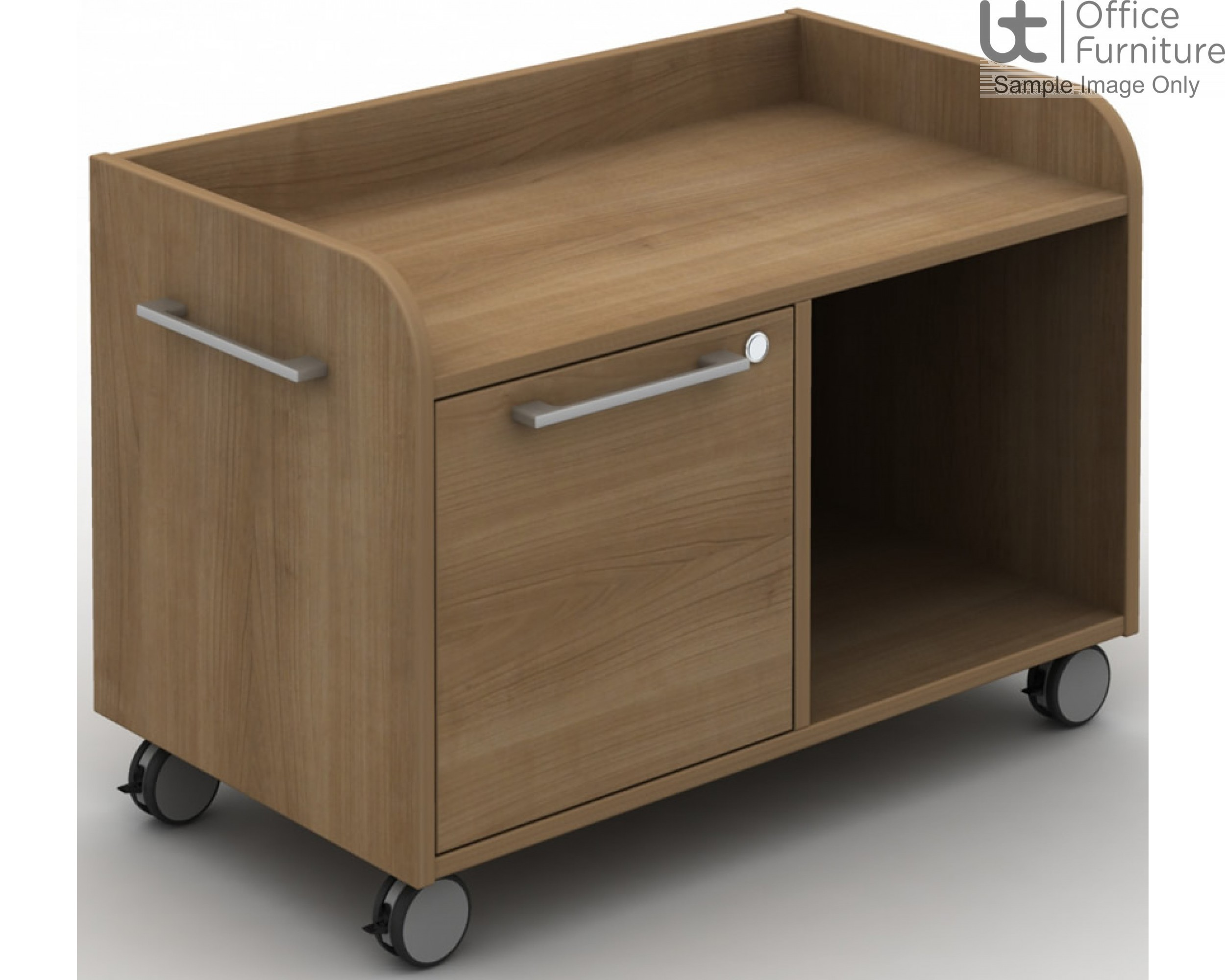 MB Storage Solutions -  Single A4 Filing Drawer Return Caddie - Left Hand Shown