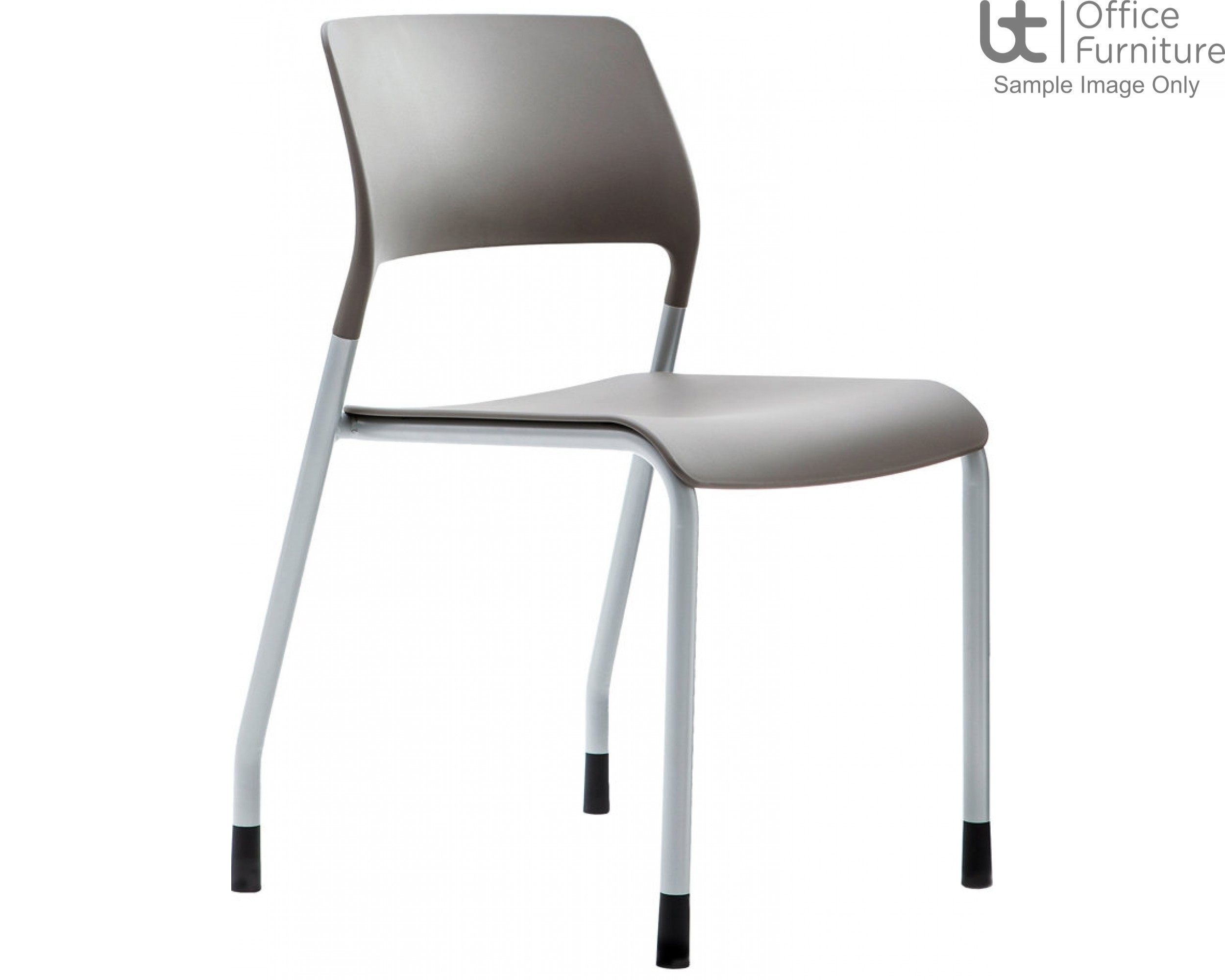 Verco Visitor / Conference Seating - Muse 4 legged Stone Plastic Stacking Chair