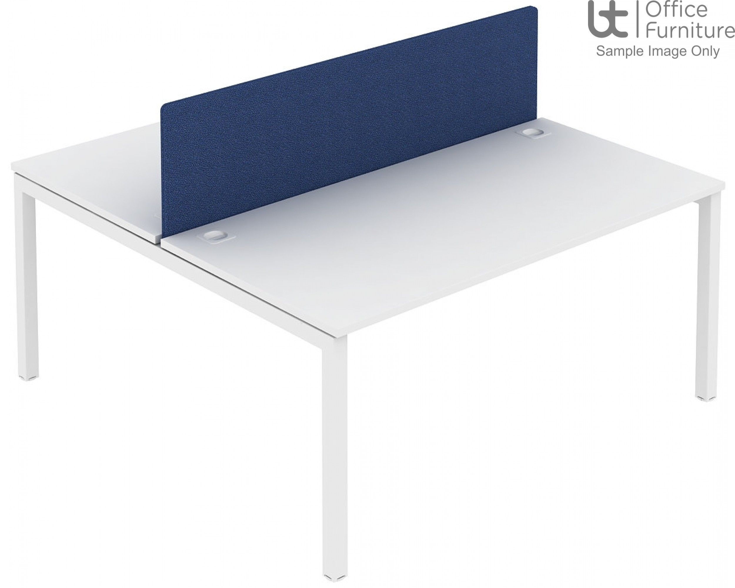 Elite Matrix Screen - Acoustic Fabric System Screen For Double Desk