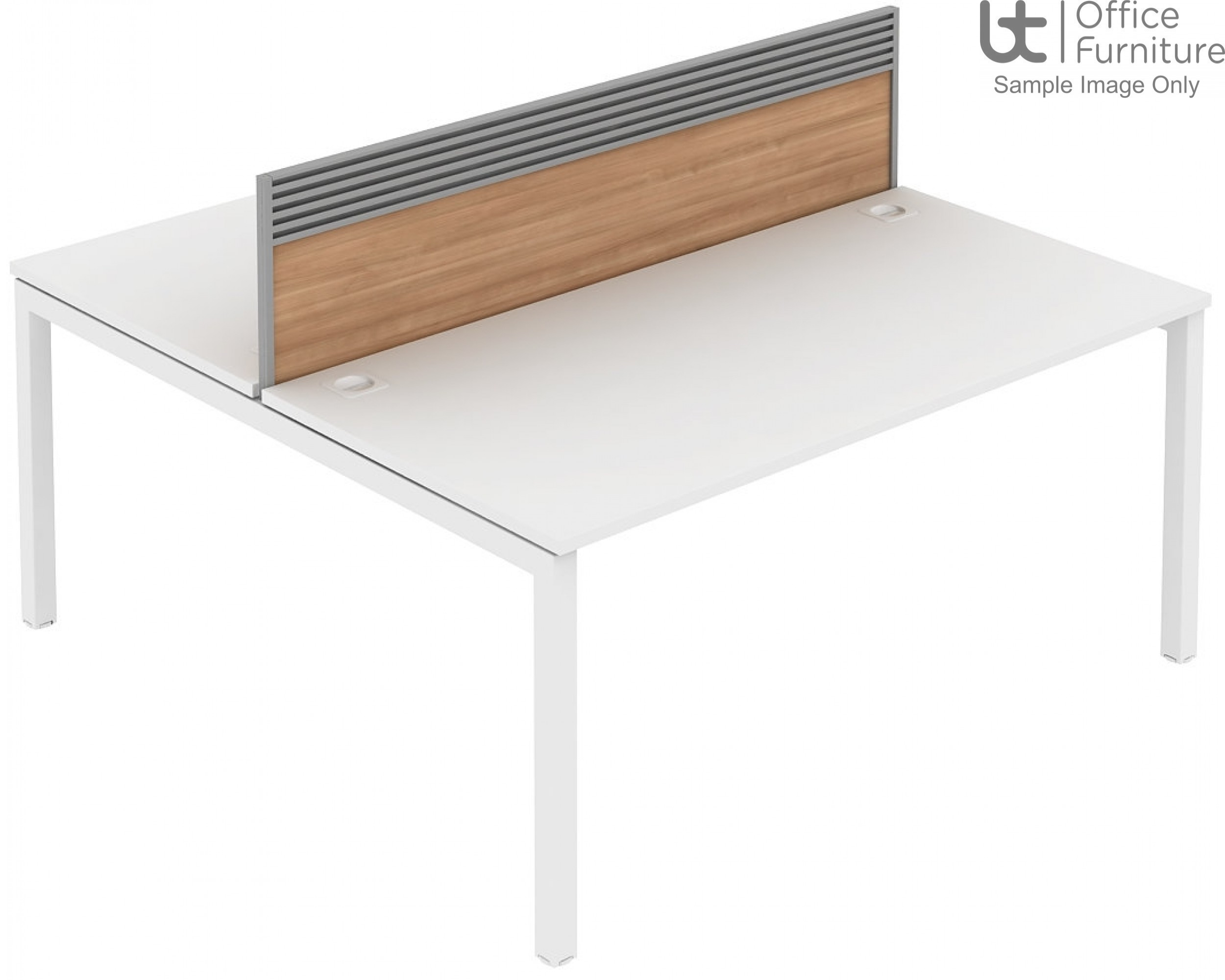 Elite Matrix Screen - MFC (Fixed Height) Screen with Management Rail For Double Desk