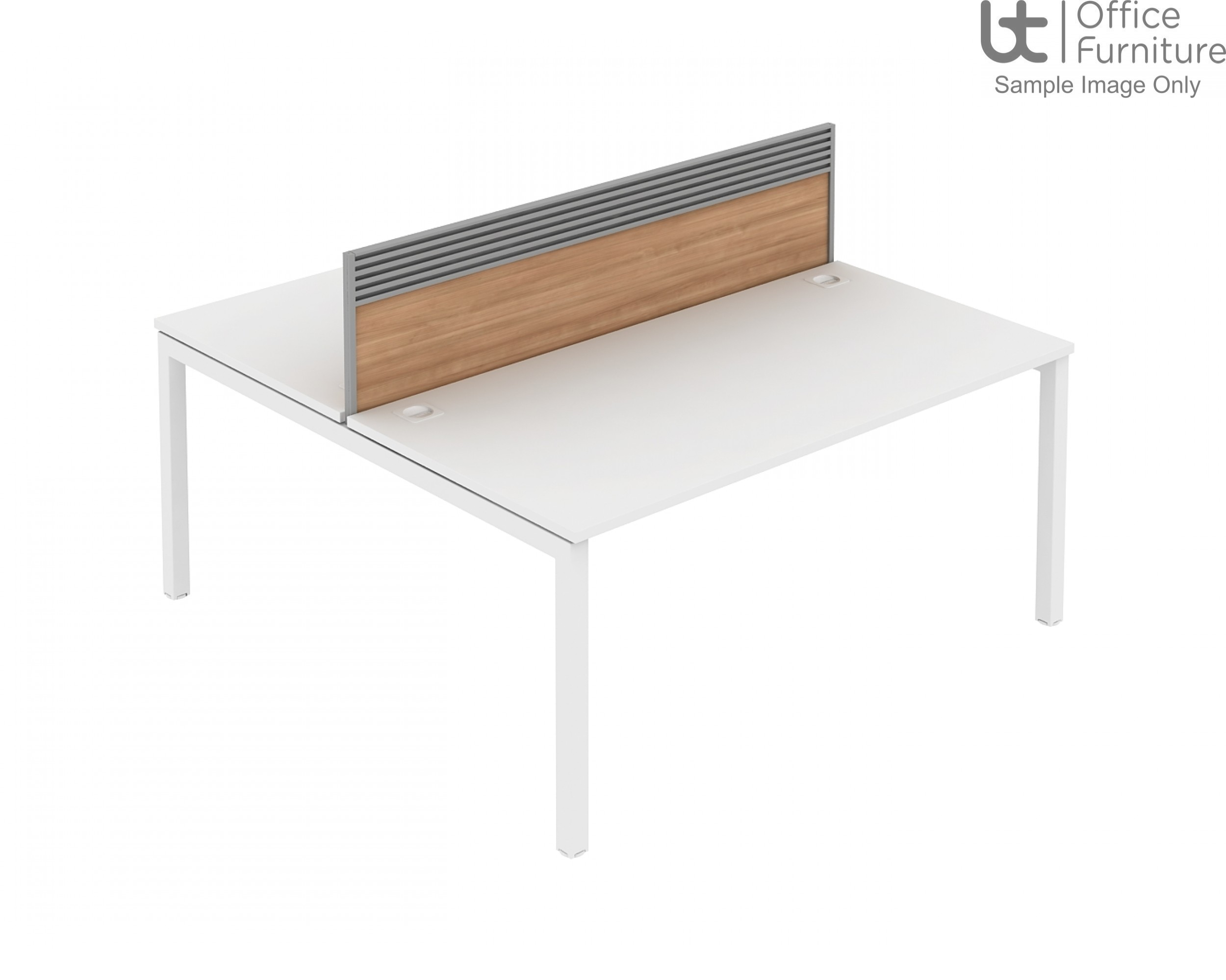 Elite Bench System Screen with Management Rail - MFC
