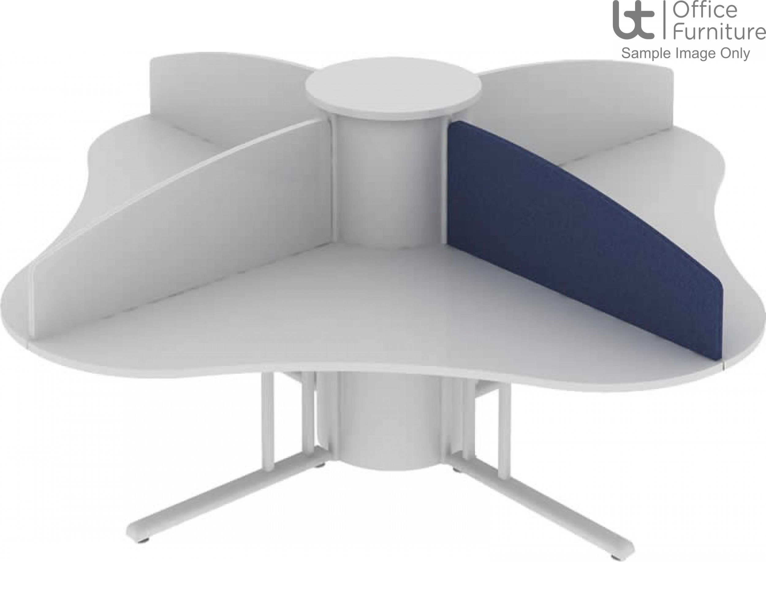 Elite Call Centre Contract Screen - Curved Fabric - Call Centre Version