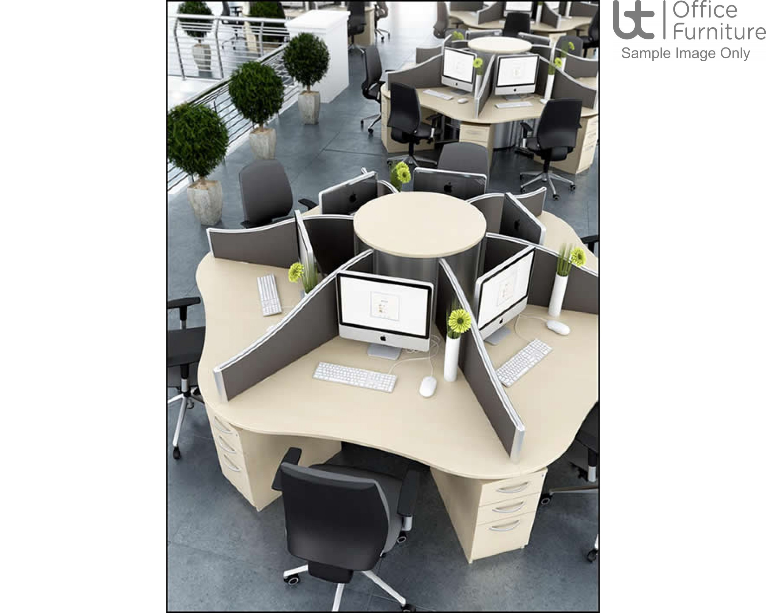 Elite Call Centre System Screen - Curved Fabric - Call Centre Version