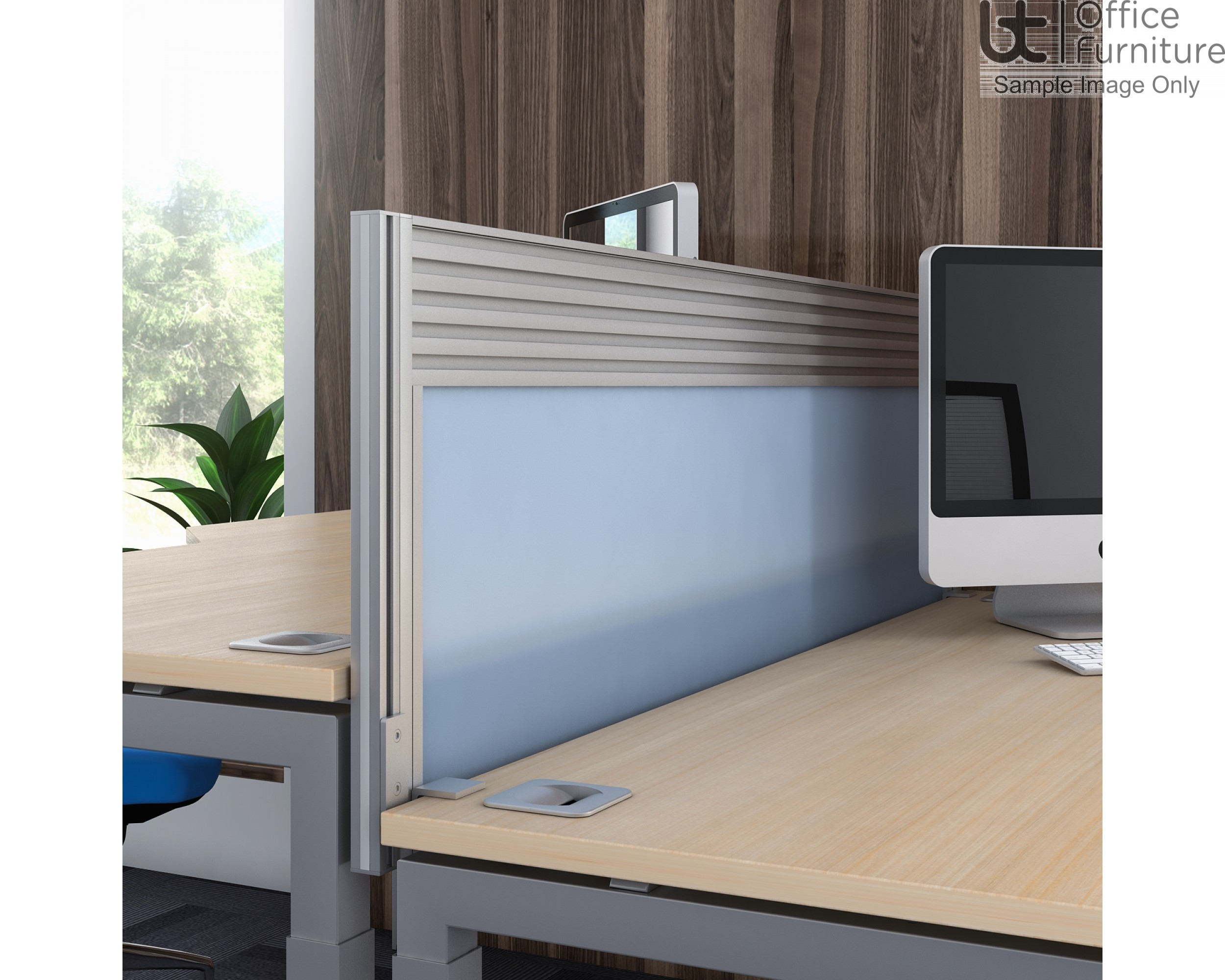 Elite Linnea Acrylic Double Bench System Screen with Management rail - For Linnea only