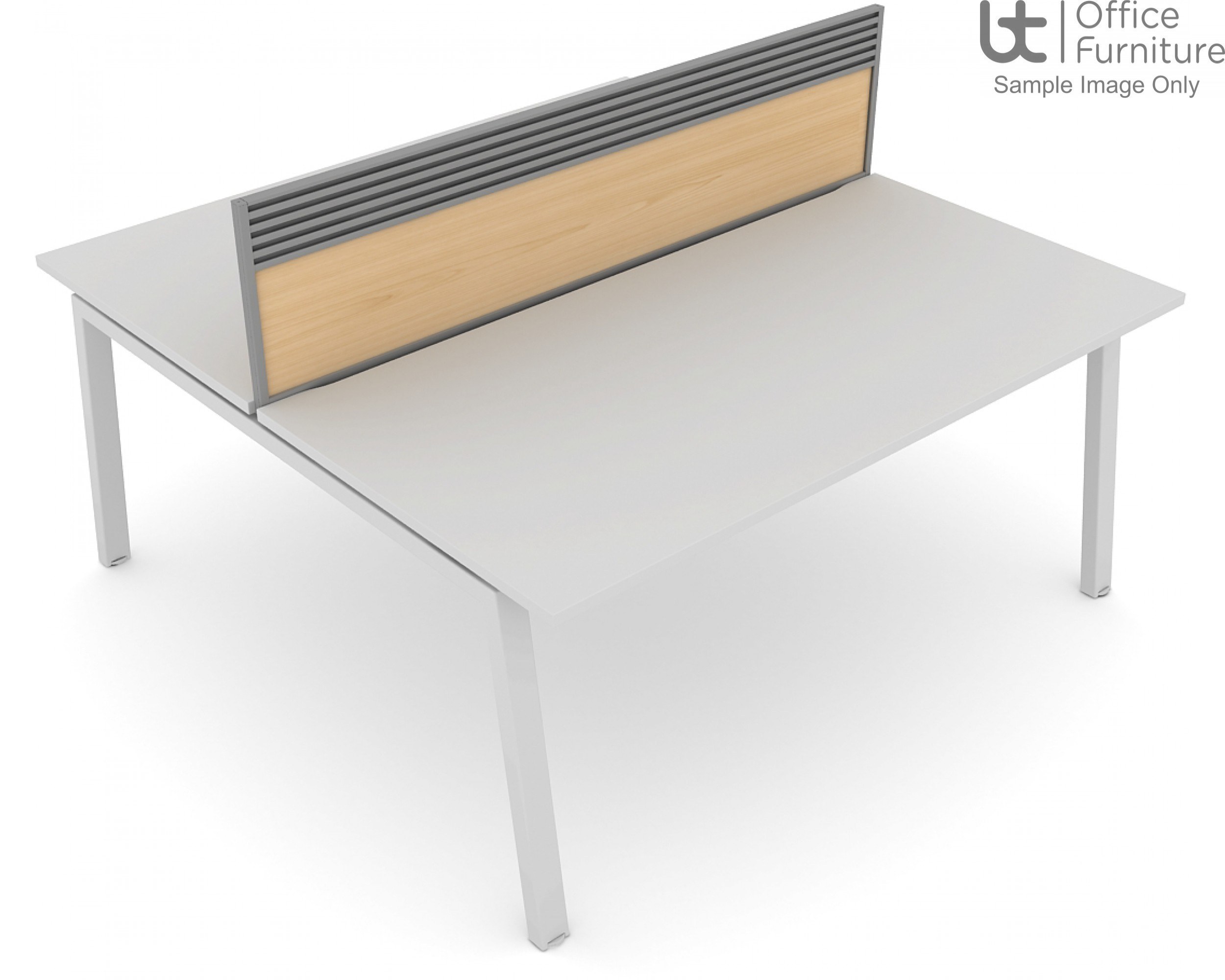 Elite Linnea MFC Double Bench System Screens with Management Rail - For Linnea only