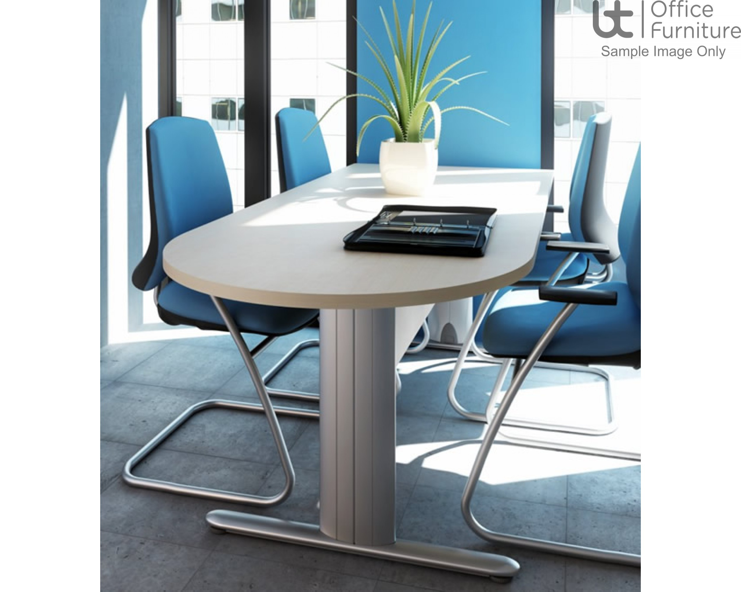 Elite Optima Plus Double D Ended 'I' Frame Conference Table Seats Up To 14 People