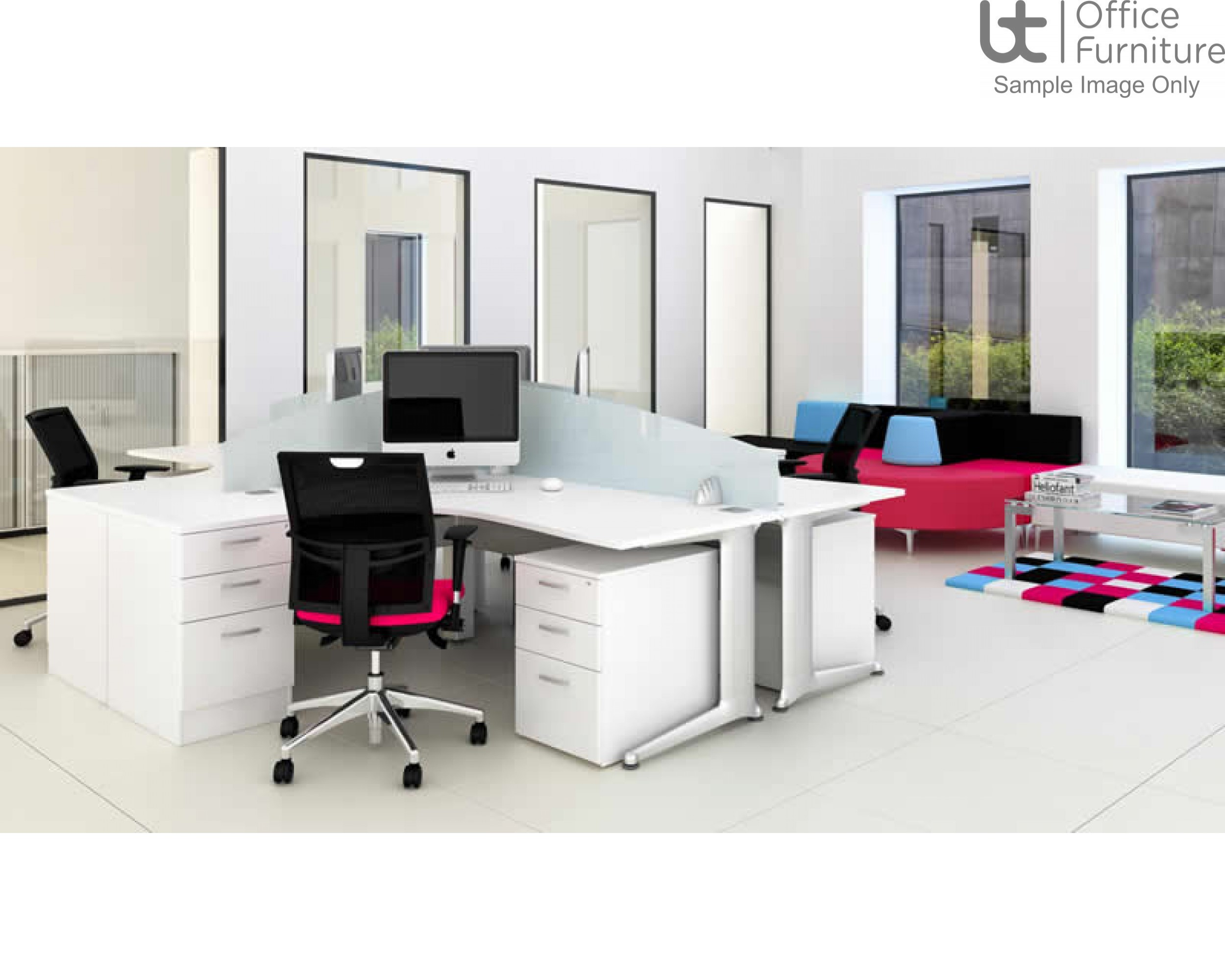 Elite Pedestals & Personal Storage Mobile 3 Mobile Drawer With Narrow Steel