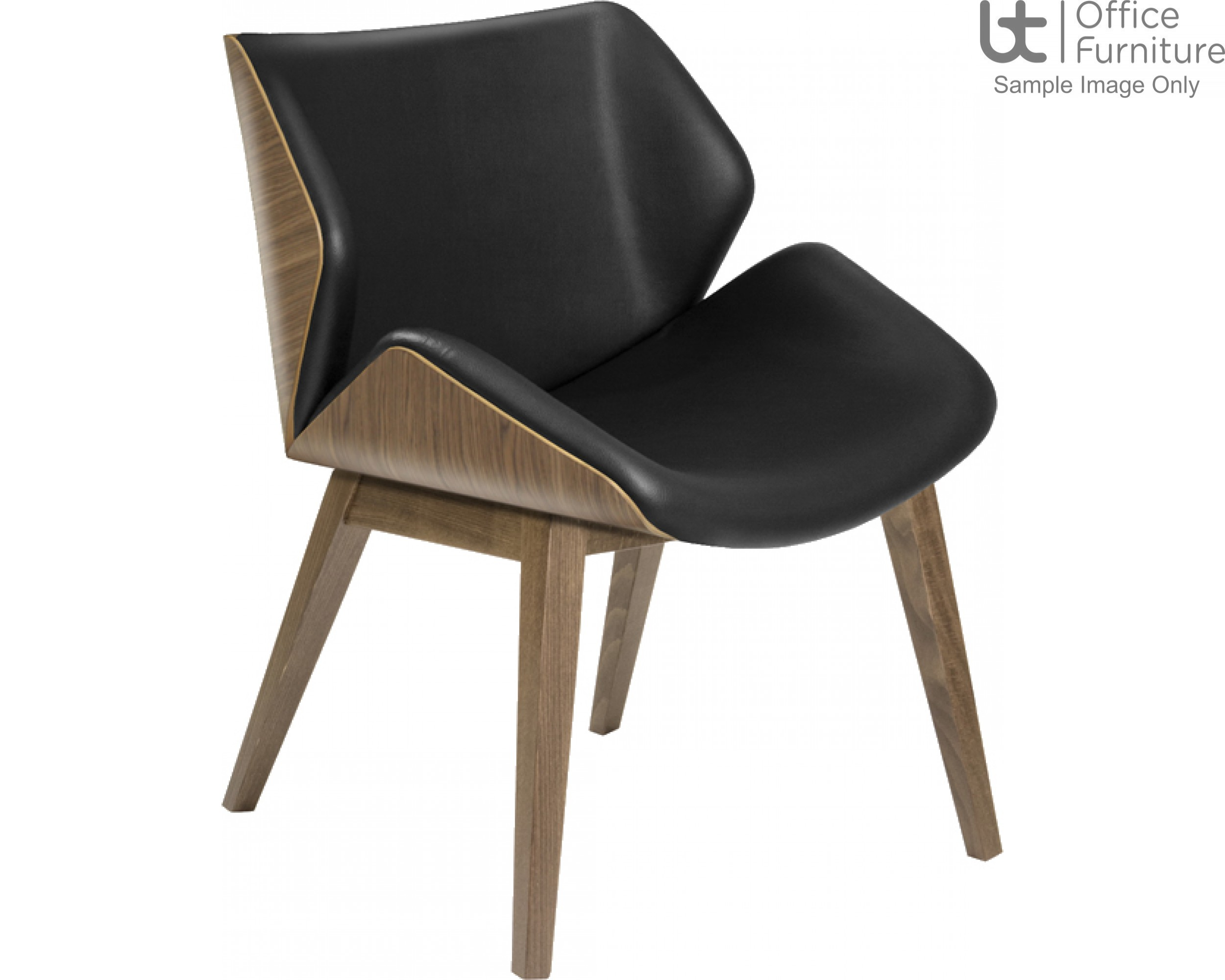 Elite Walnut Veneerd Outer Shell Cascara Visitor & Lounge Chairs