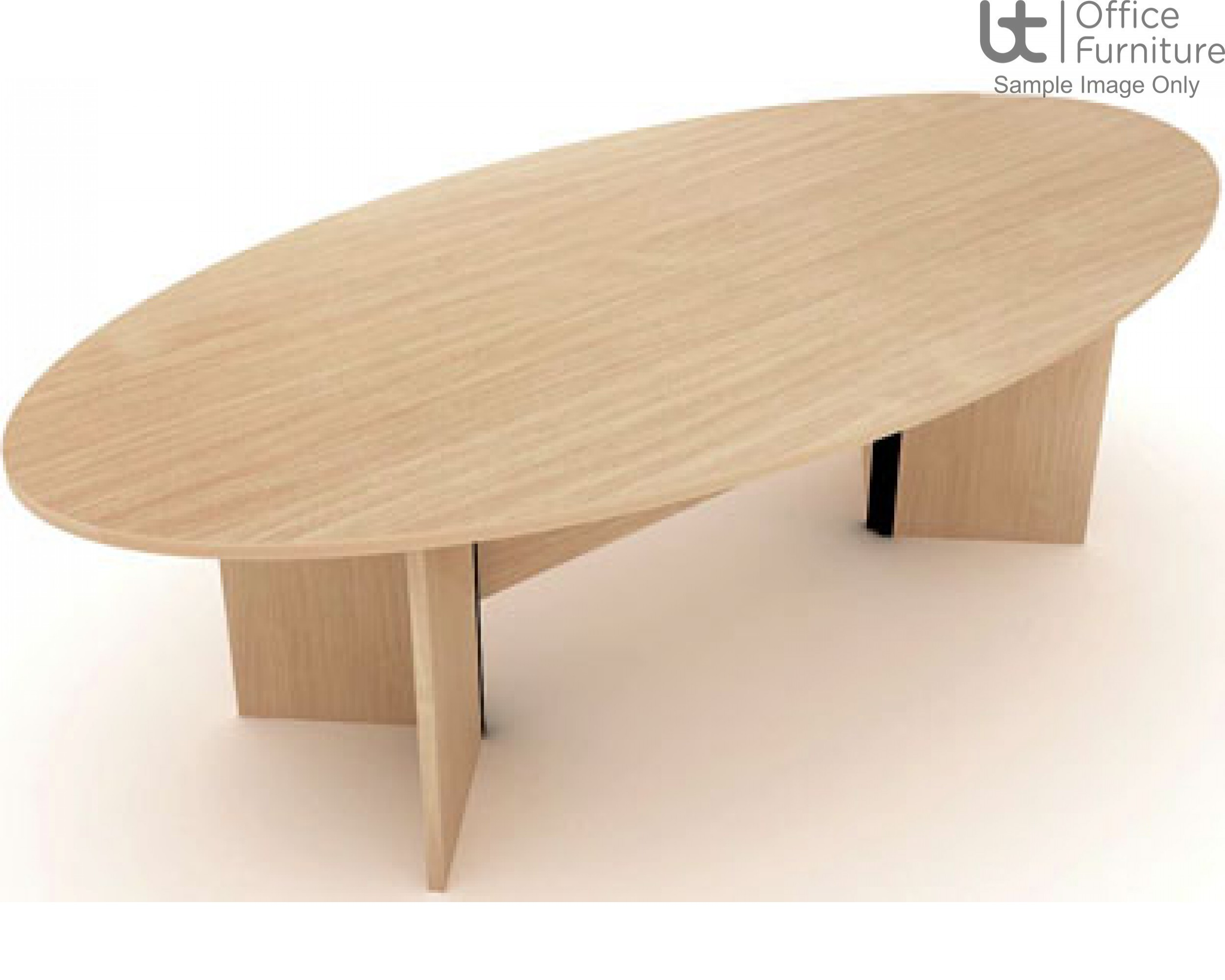 Elite Windsor Oval Conference Table Seats 8 People