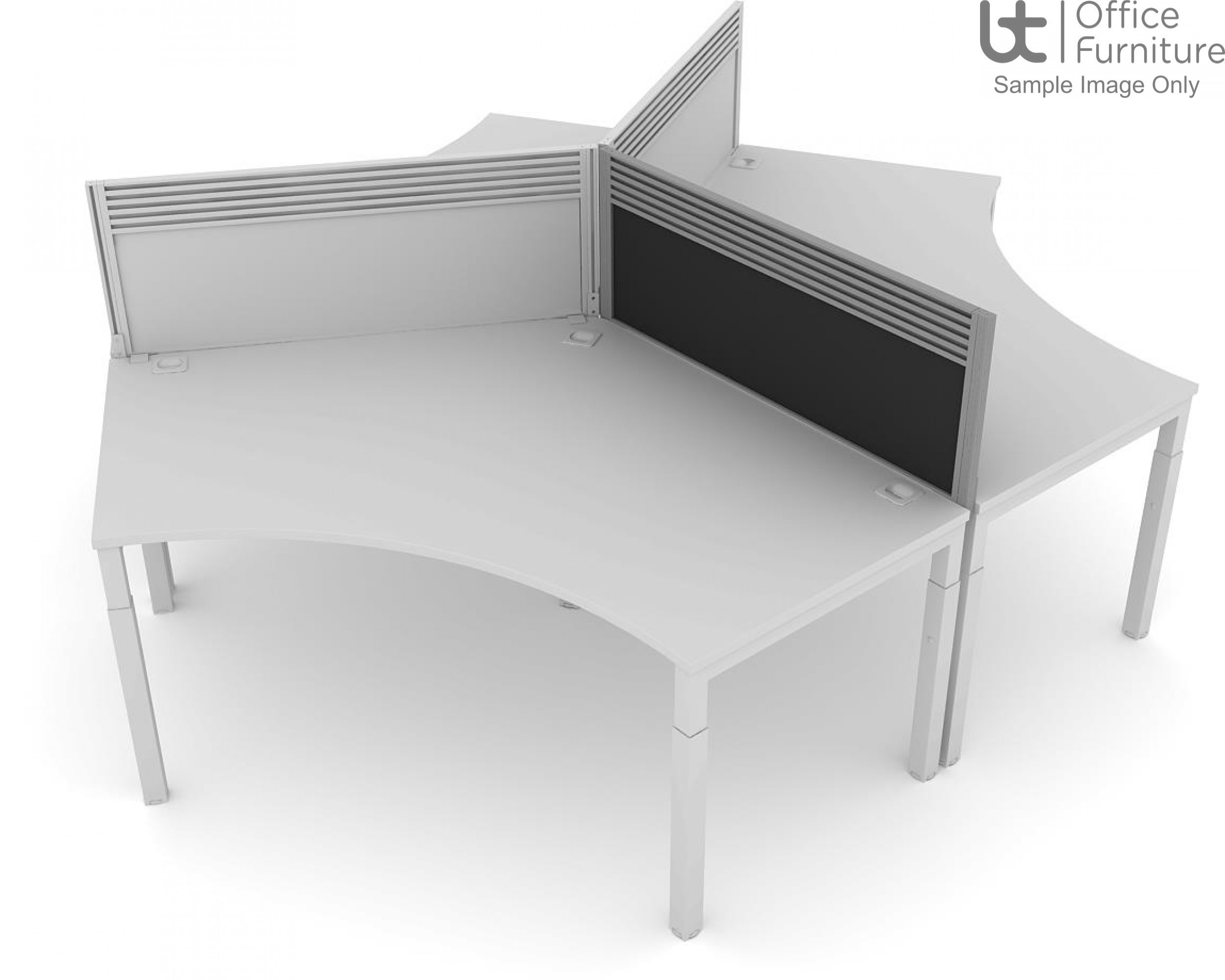Elite Advance System Screen 120 Degree with Management Rail - Fabric For Advance only