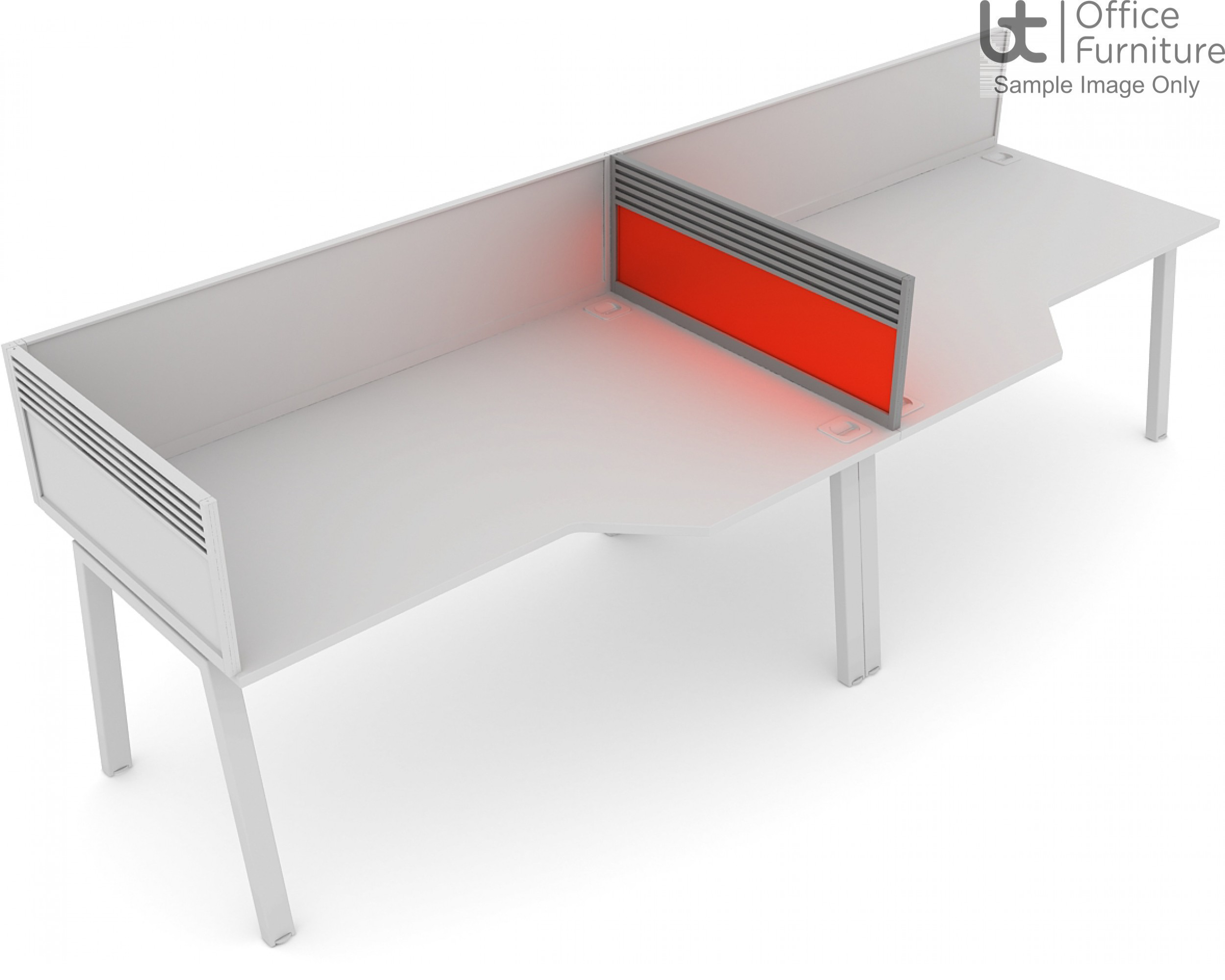 Elite System Screen Mid Return with Management Rail - Acrylic
