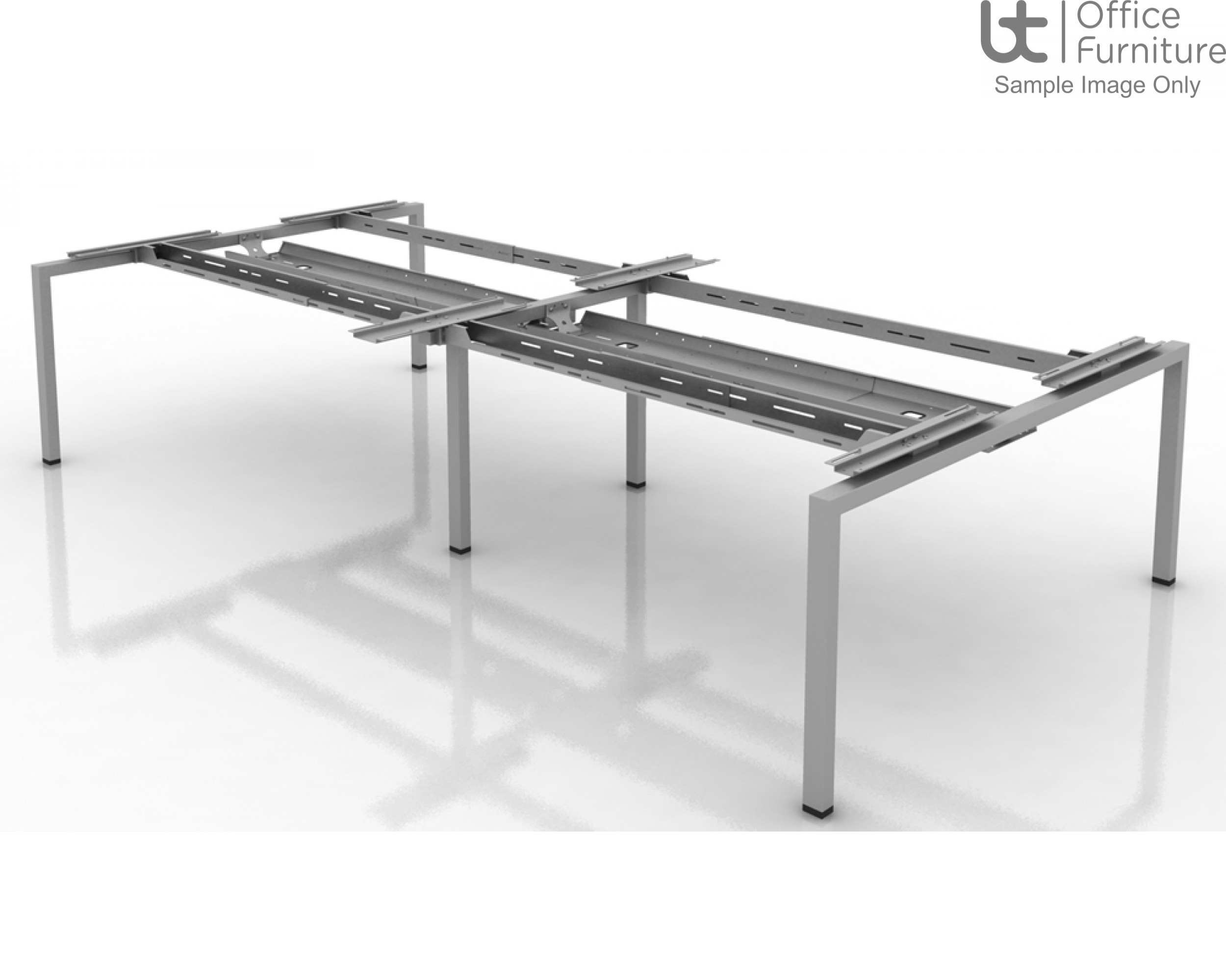 Soho2 Back To Back Add-On Starter Module Desk 1250mm Deep Inc Telescopic Cable Tray