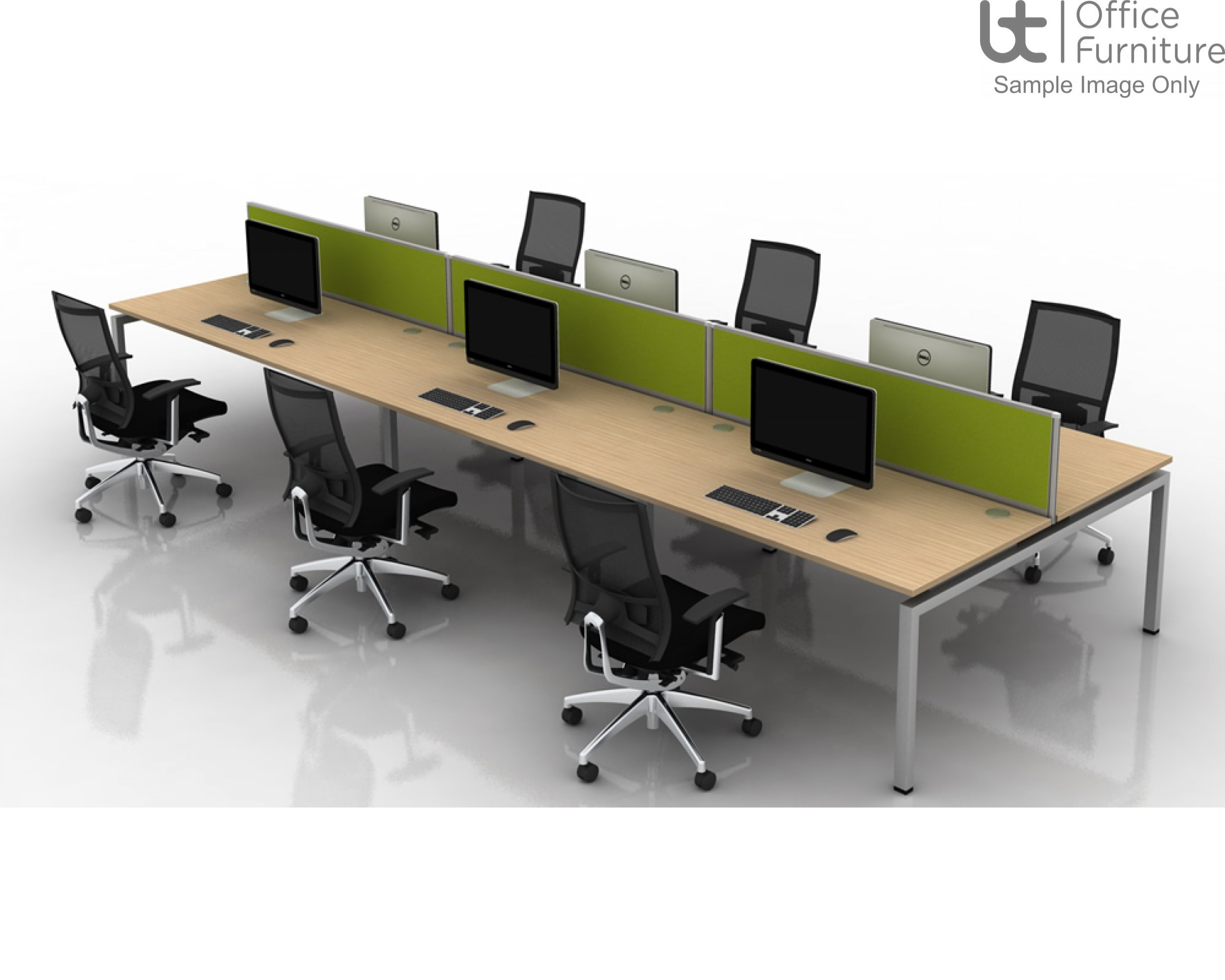 Soho2 Crescent Desk With Pedestal Bracket 800D x 600Dmm - Right Hand Illustrated