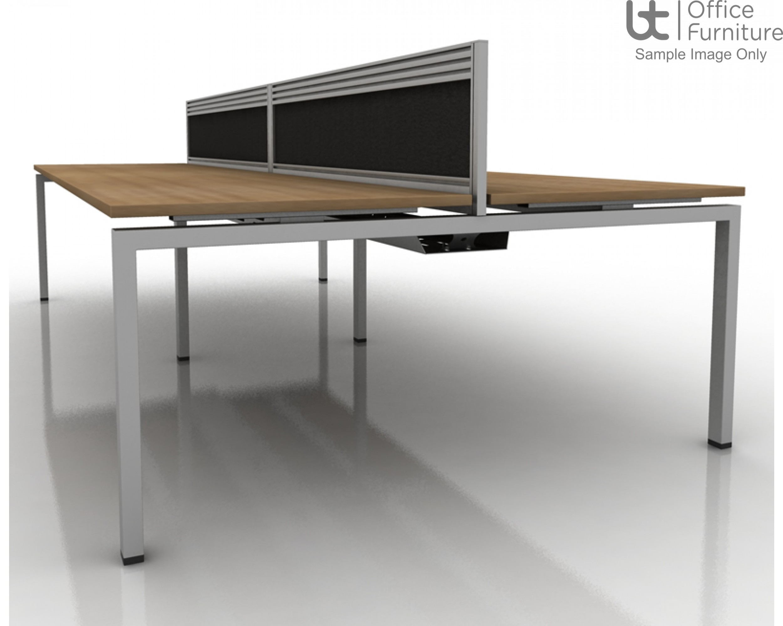 Soho2 Extended Crescent Desk For Supporting Pedestal 800D x 600Dmm - Right Hand Illustrated