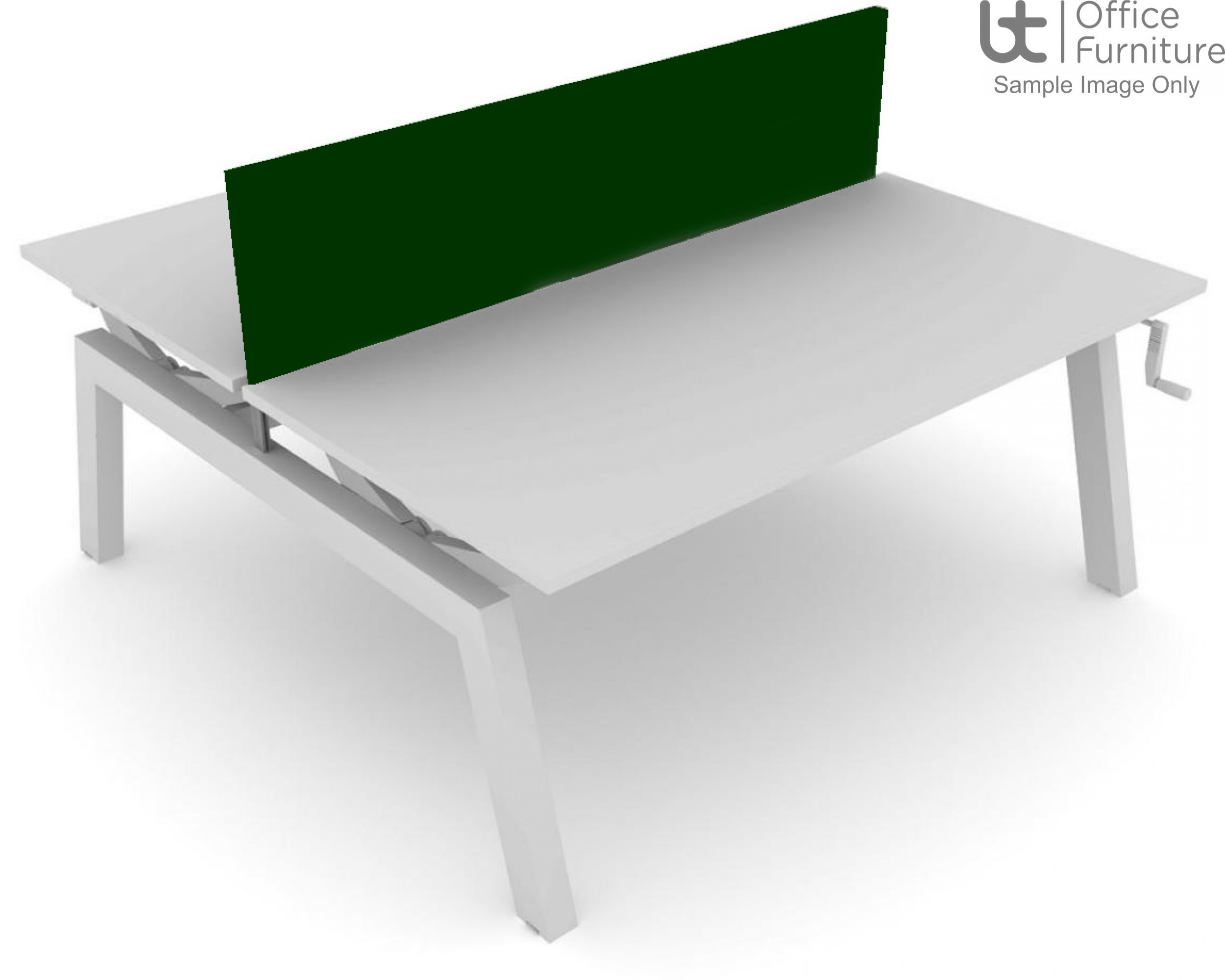 Elite Linnea Elevate Screen - Acoustic System Fabric Screen For Double Desk