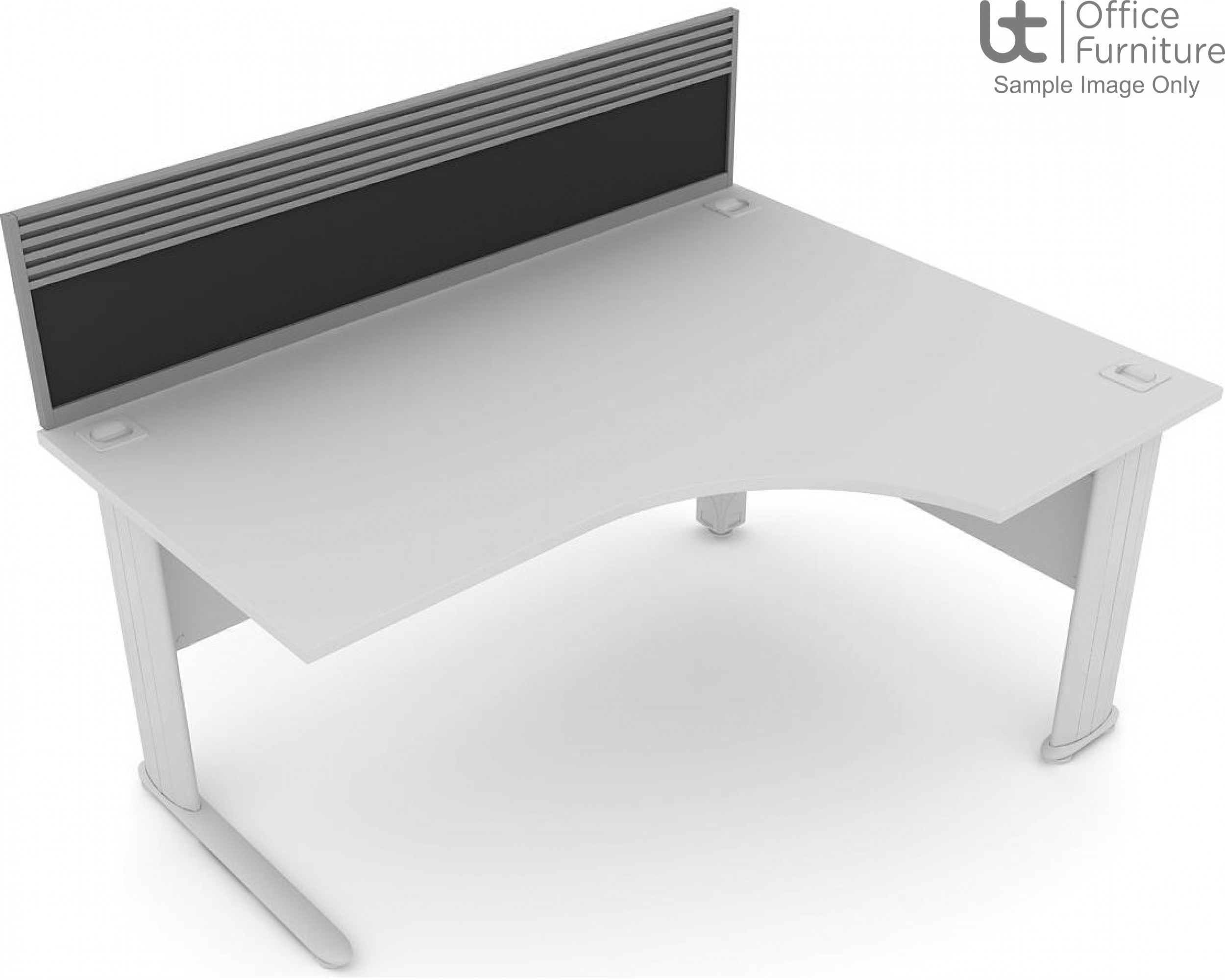 Elite System Screen with Management Rail - Fabric