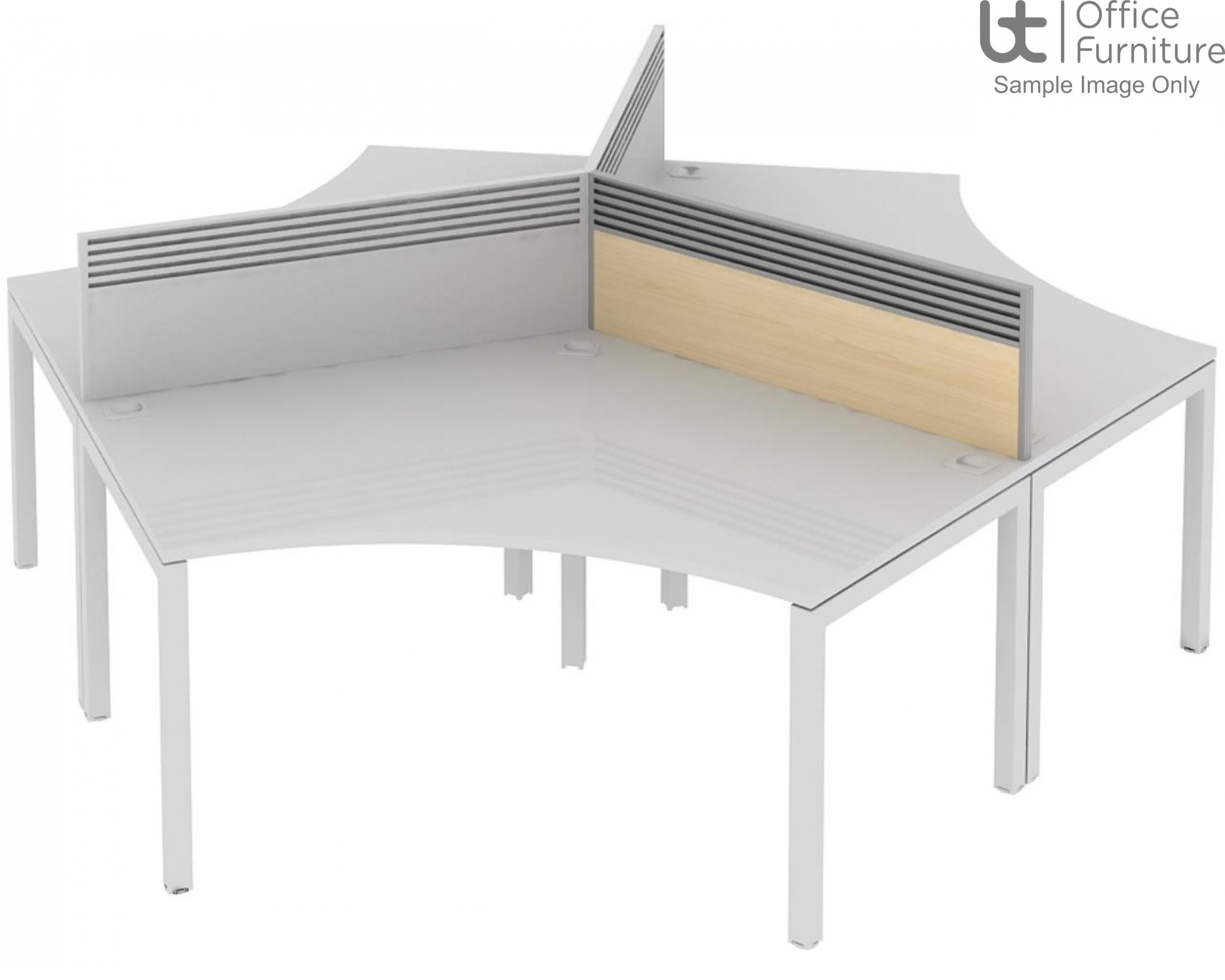 Elite Matrix Screen - MFC (Fixed Height) 120 Degree System Screen with Management Rail