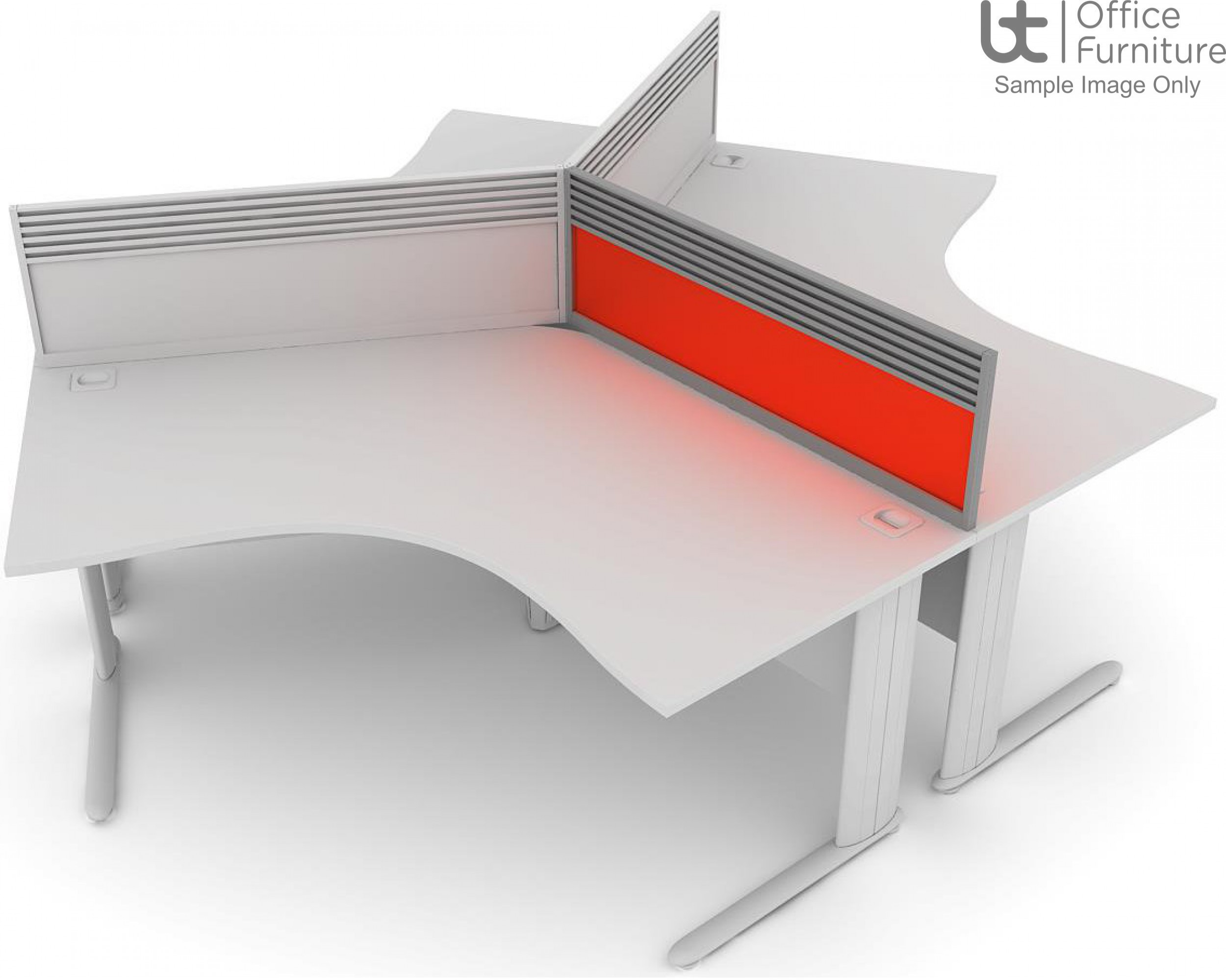 Elite System Screen 120 Degree with Management Rail - Acrylic