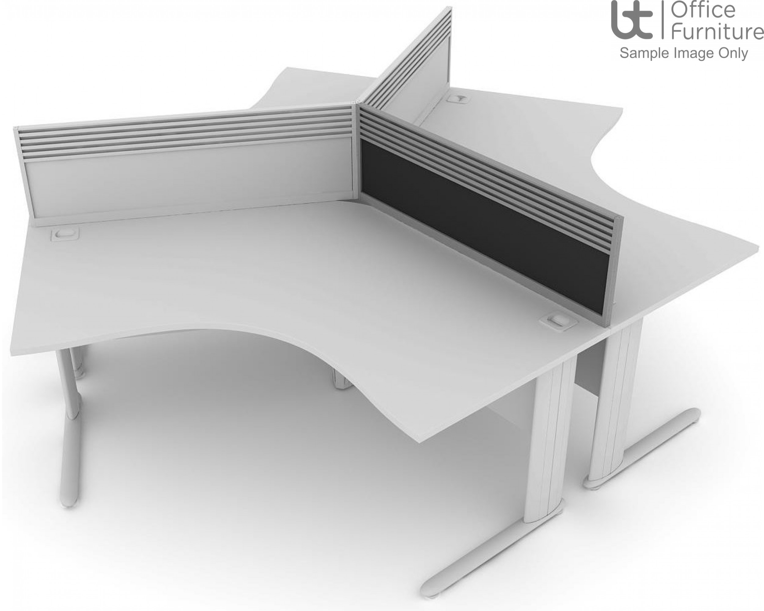 Elite System Screen 120 Degree with Management Rail - Fabric*