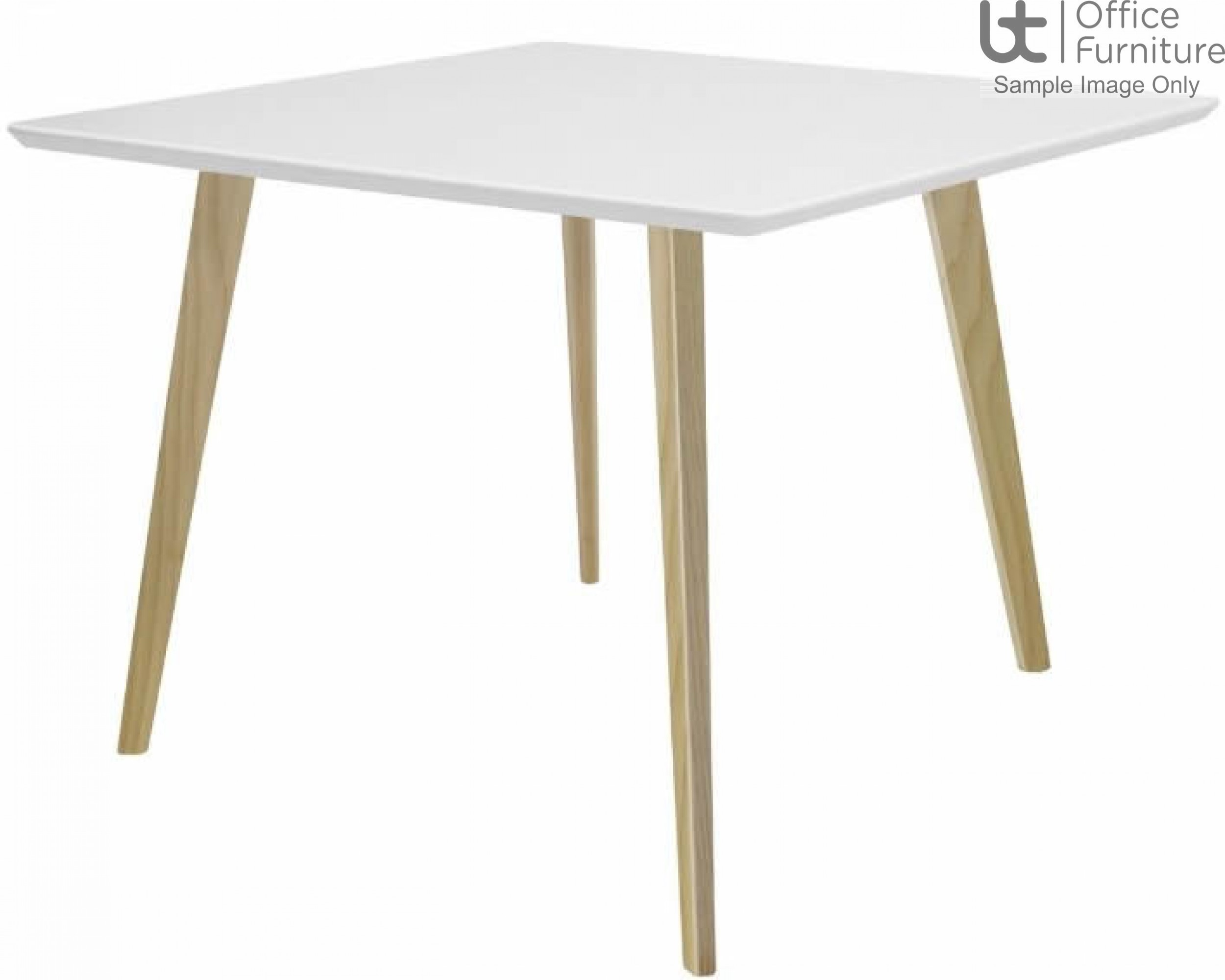 Elite Modular Meeting Square Table with Square Wooden Legs