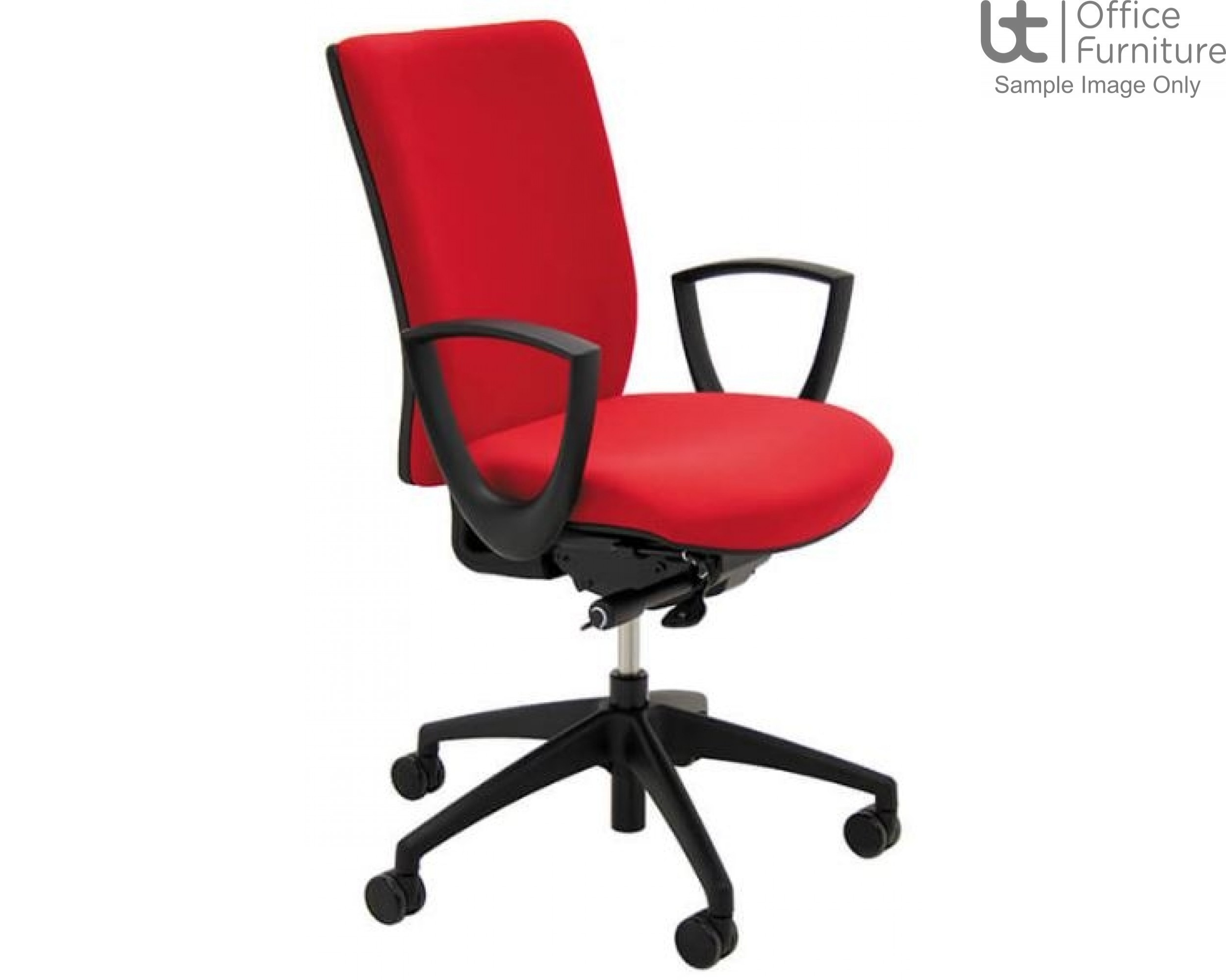 Verco Operator/Task Chair - Pop High Back Task Chair with Arms