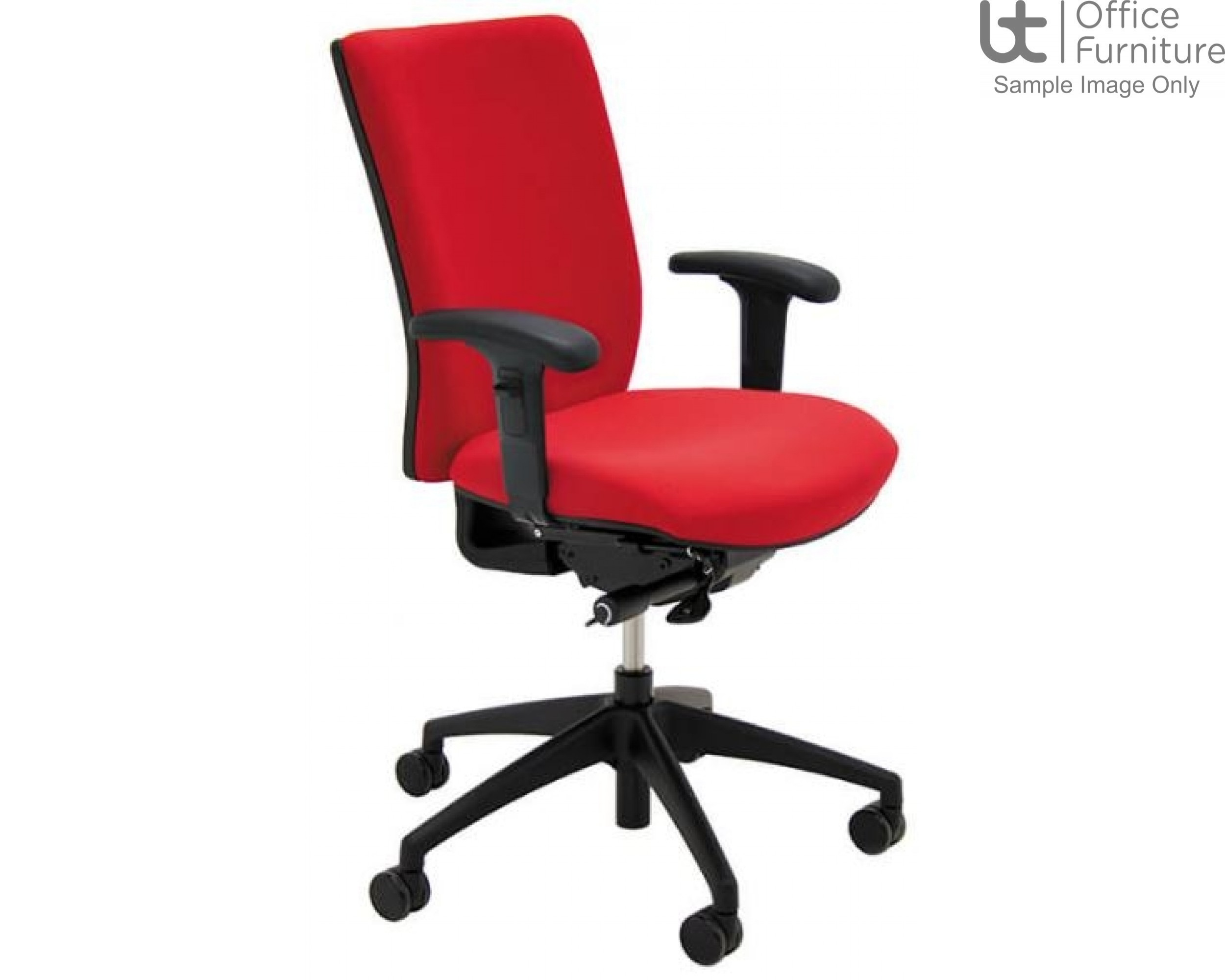 Verco Operator/Task Chair - Pop High Back Task Chair with Adjustable Arms