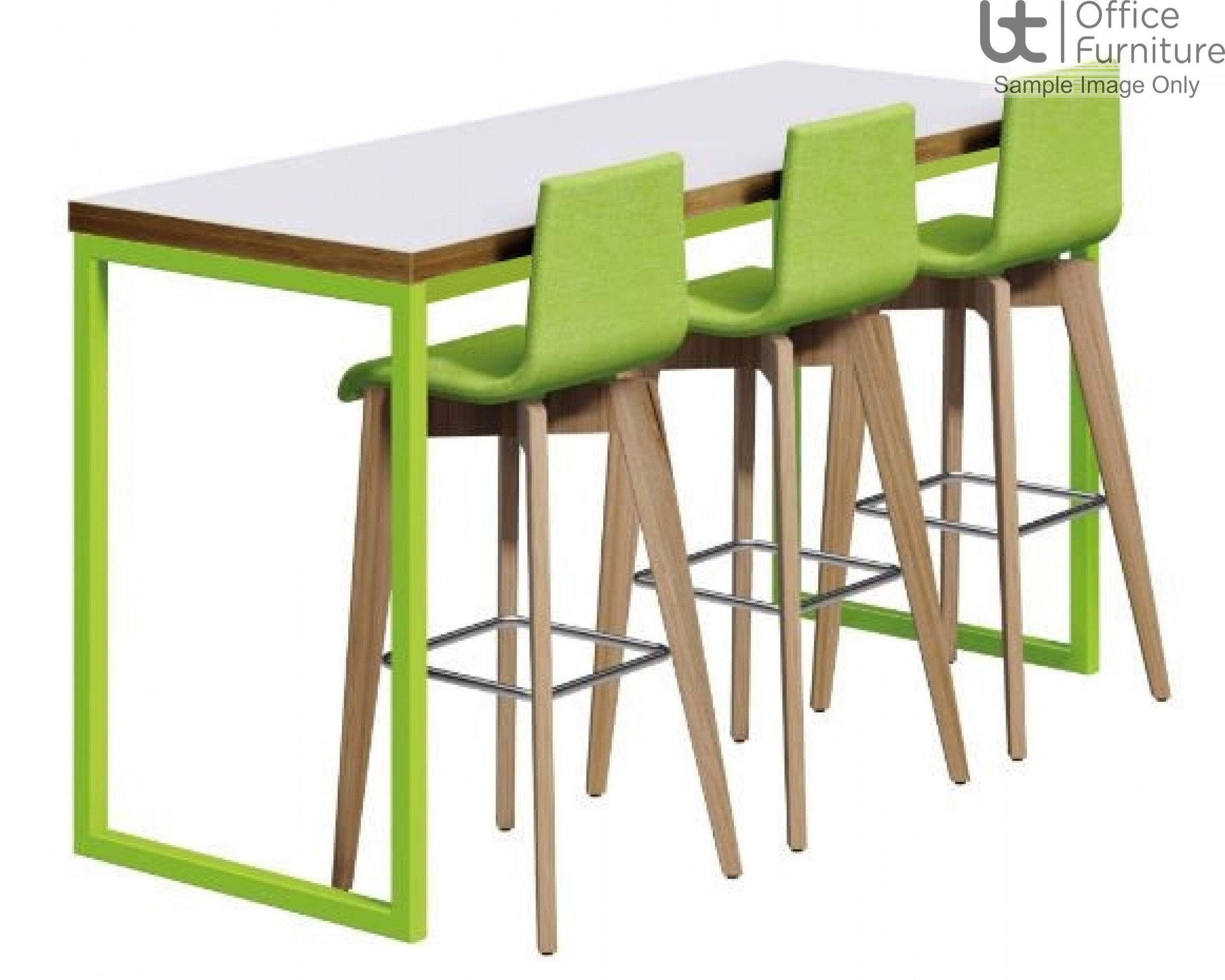 Urban 40/40 Robust 25mm Laminate Top School Bench Dining Poseur Table W1500mm (Premium Frame Colours)