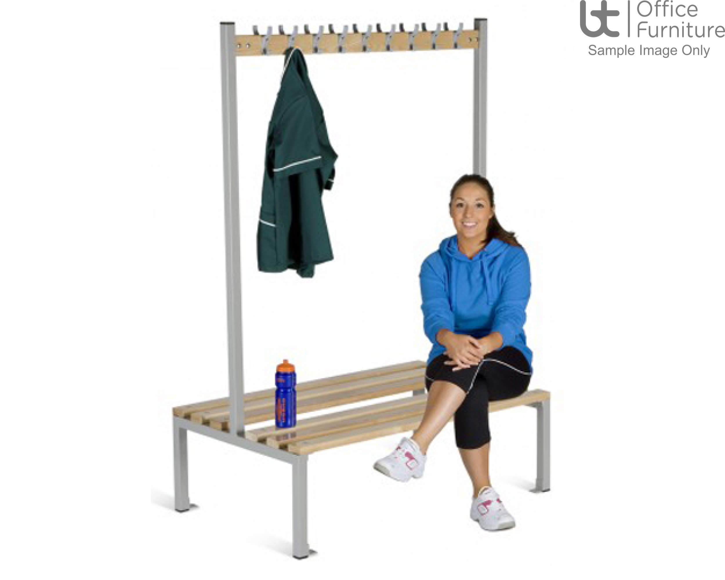HOF Cloakroom Equipment - Double Sided Island Seating