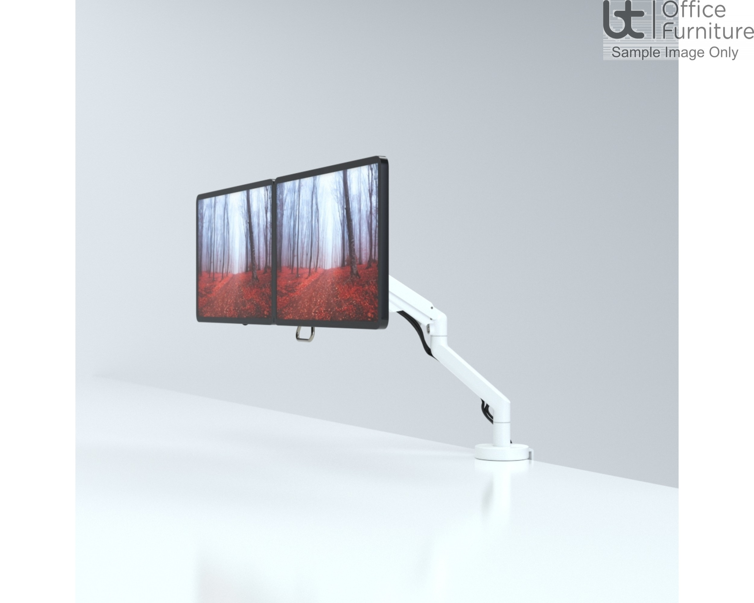 Reach Plus Dual Gas Assisted Monitor Arm - (6KG to 15KG Monitor) - Quick Release VESA