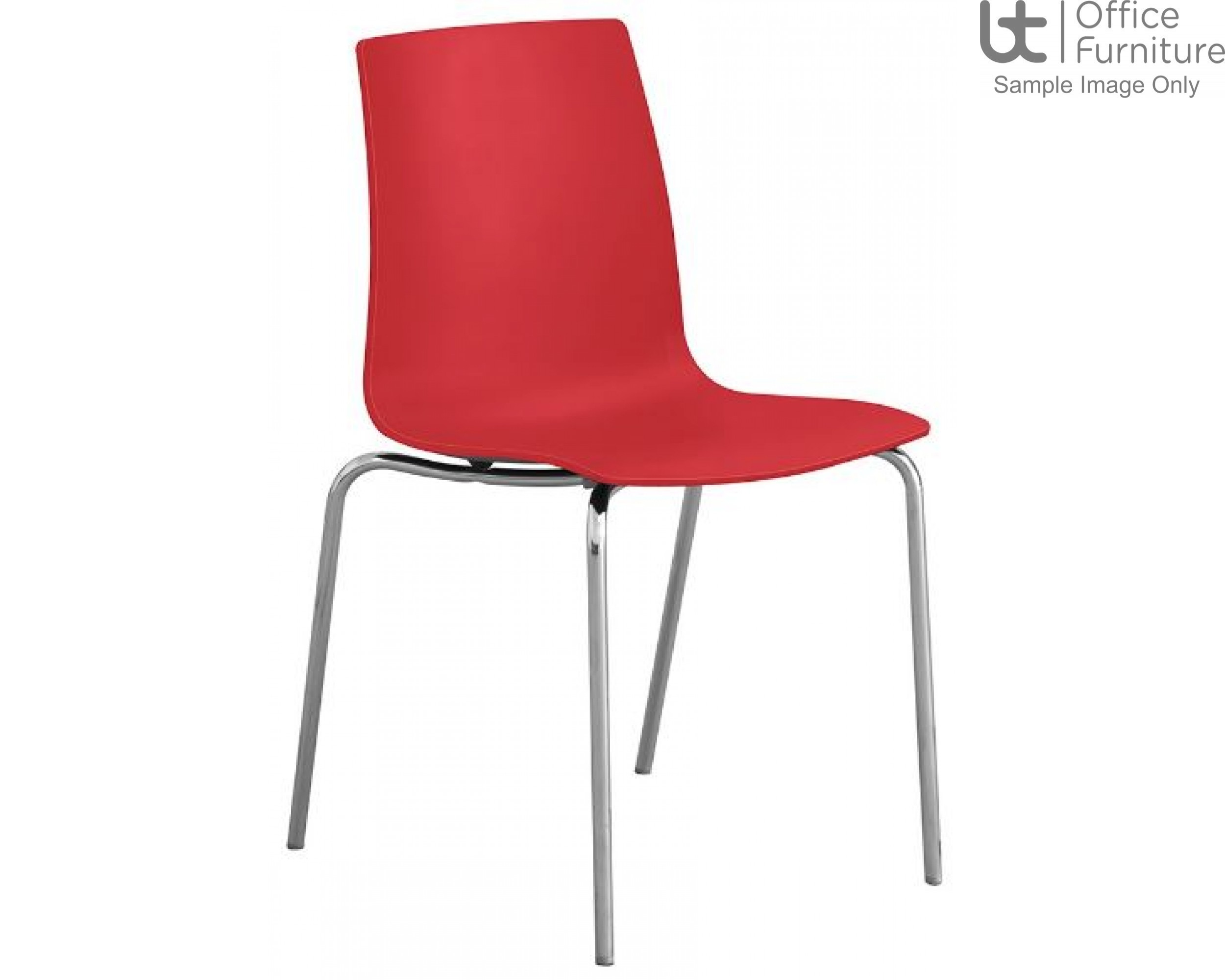 Stanza Red Cafe/Bistro/Canteen Chair