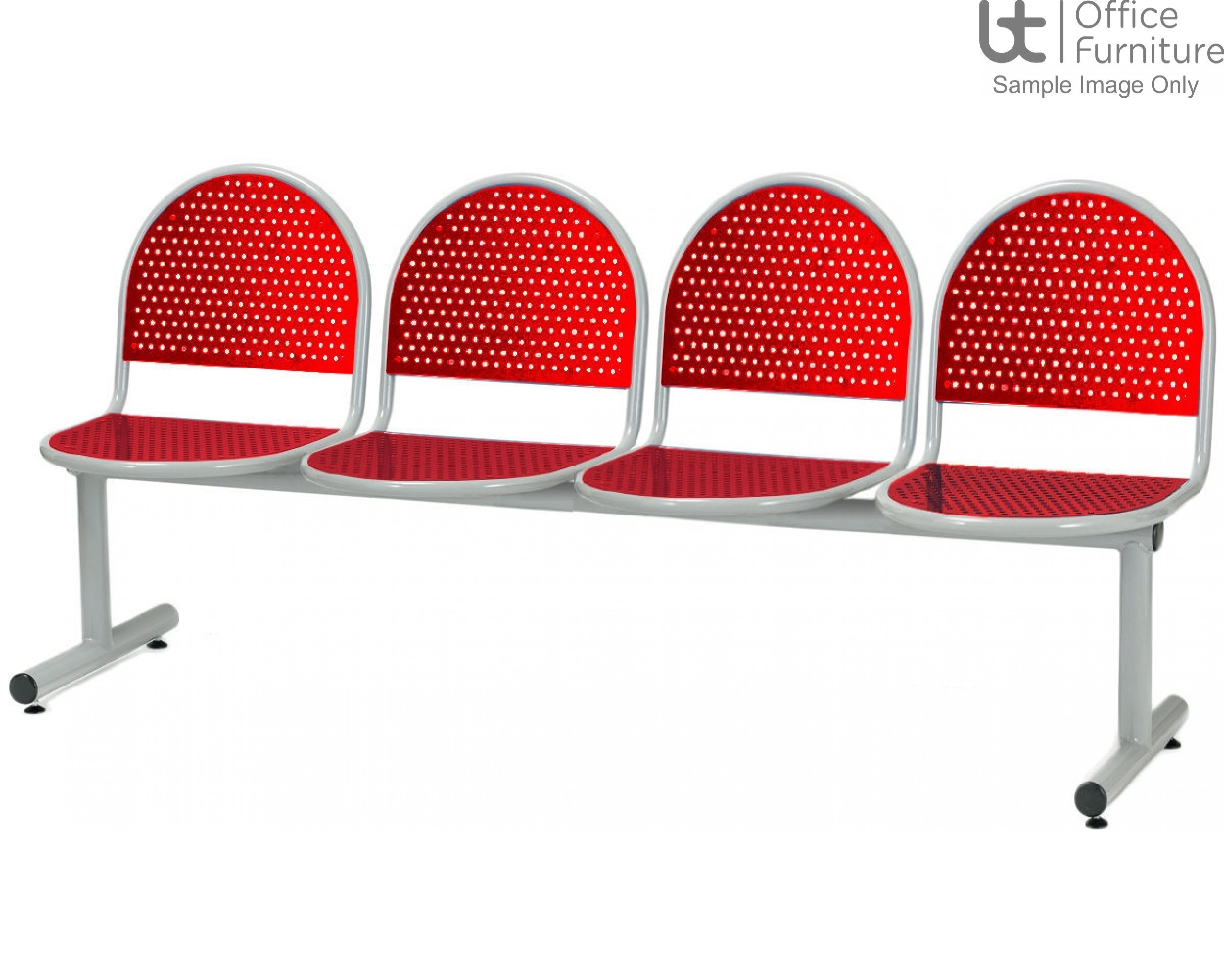 Ambe Deluxe Steel 4 Seat Perforated Beam Seating Unit