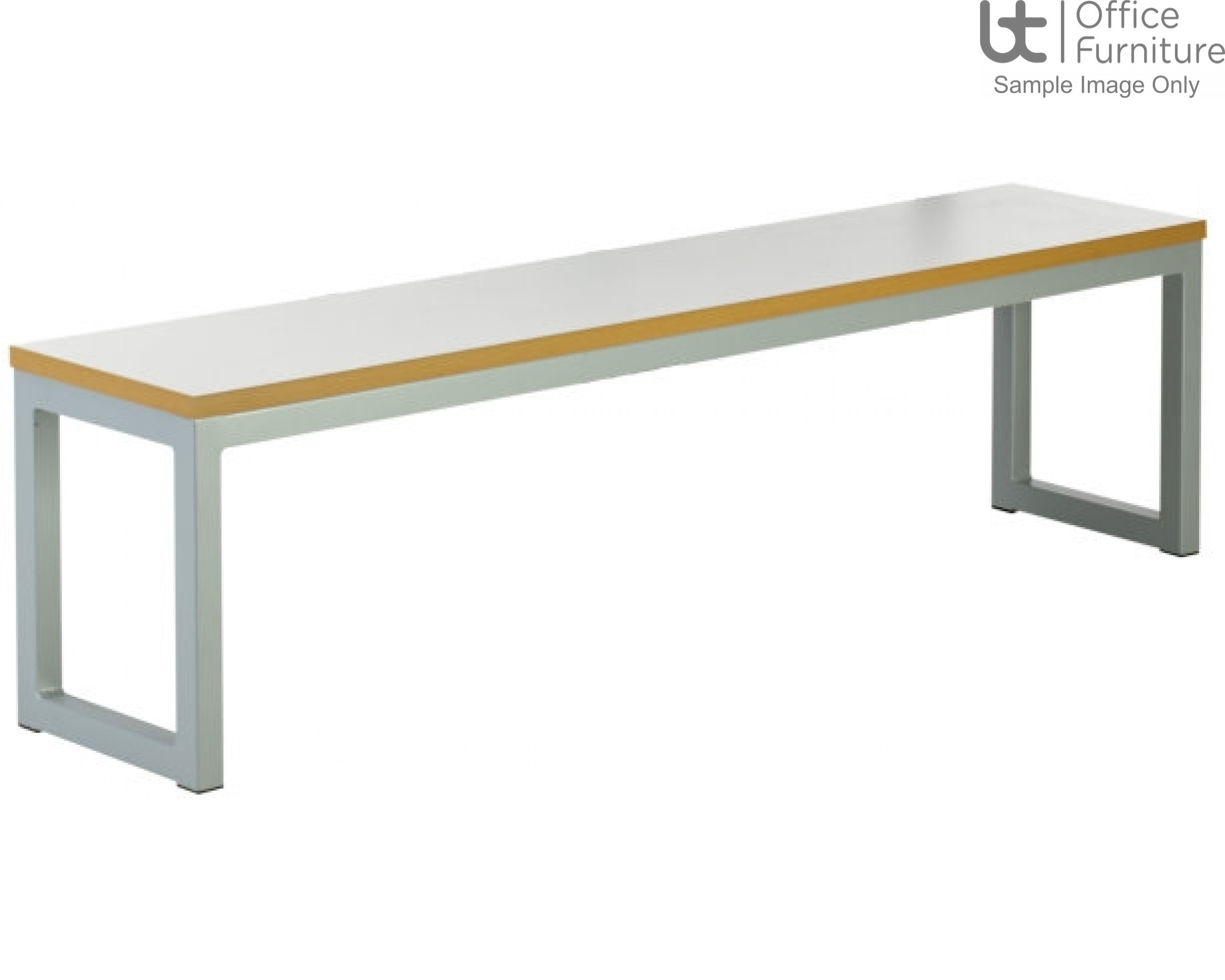 Urban 40/40 Robust 25mm Laminate Top School Bench Seat W2100mm (Std Frame Colours)