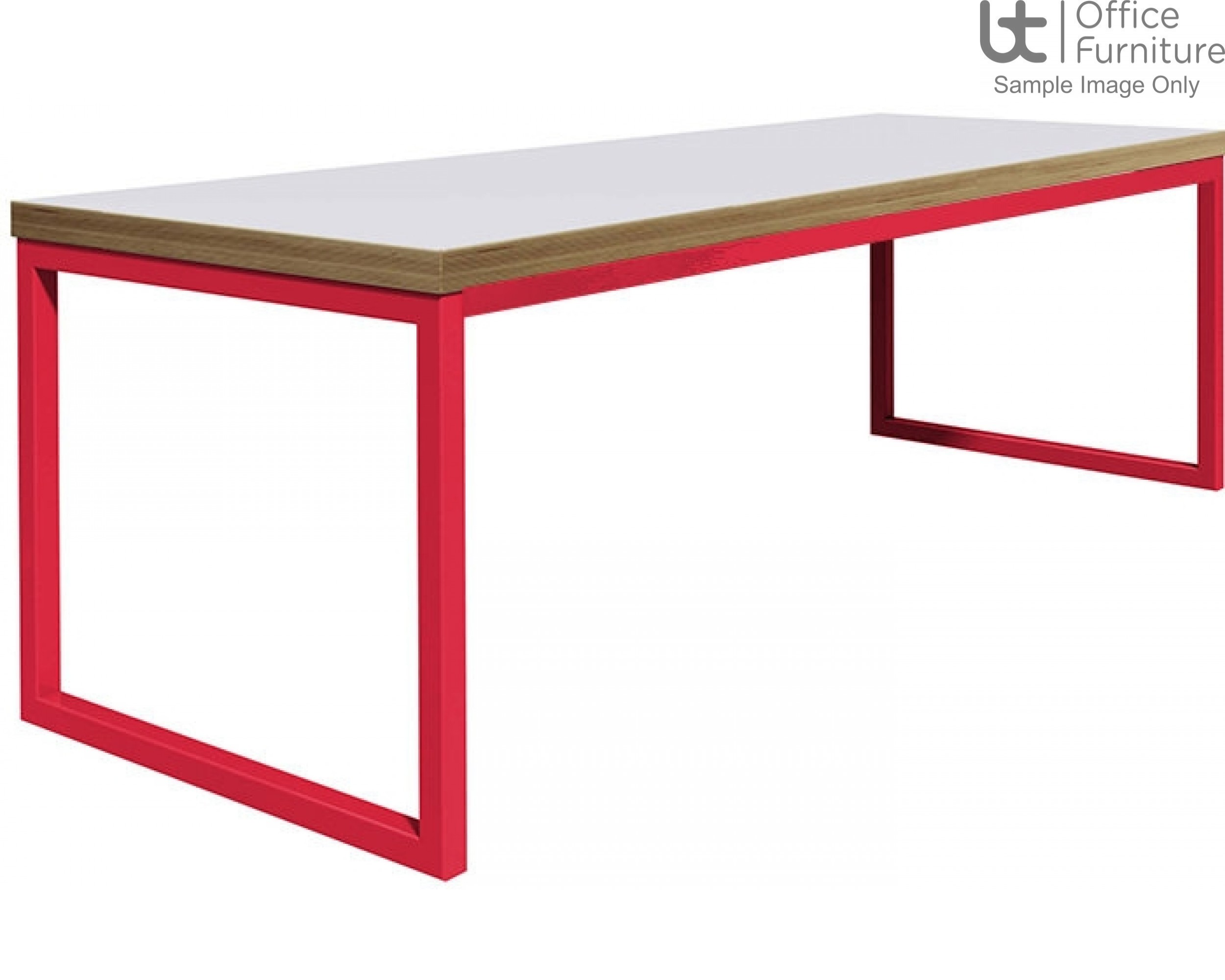 City 40/40 Robust 40mm Laminate Top School Bench Dining Table W2200mm (Premium Frame Colours)