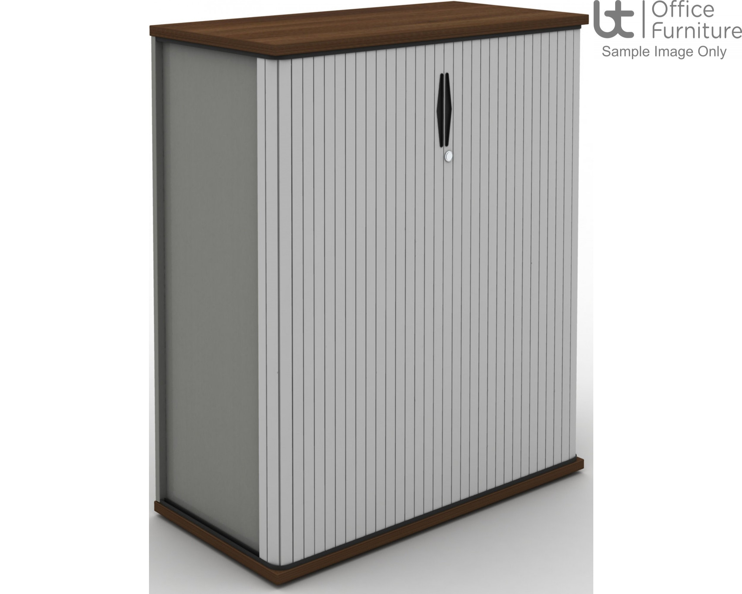 MB Storage Solutions - MB Side Opening Tambour Unit 500mm Deep - (Carcass & Tambour Front Silver as standard)