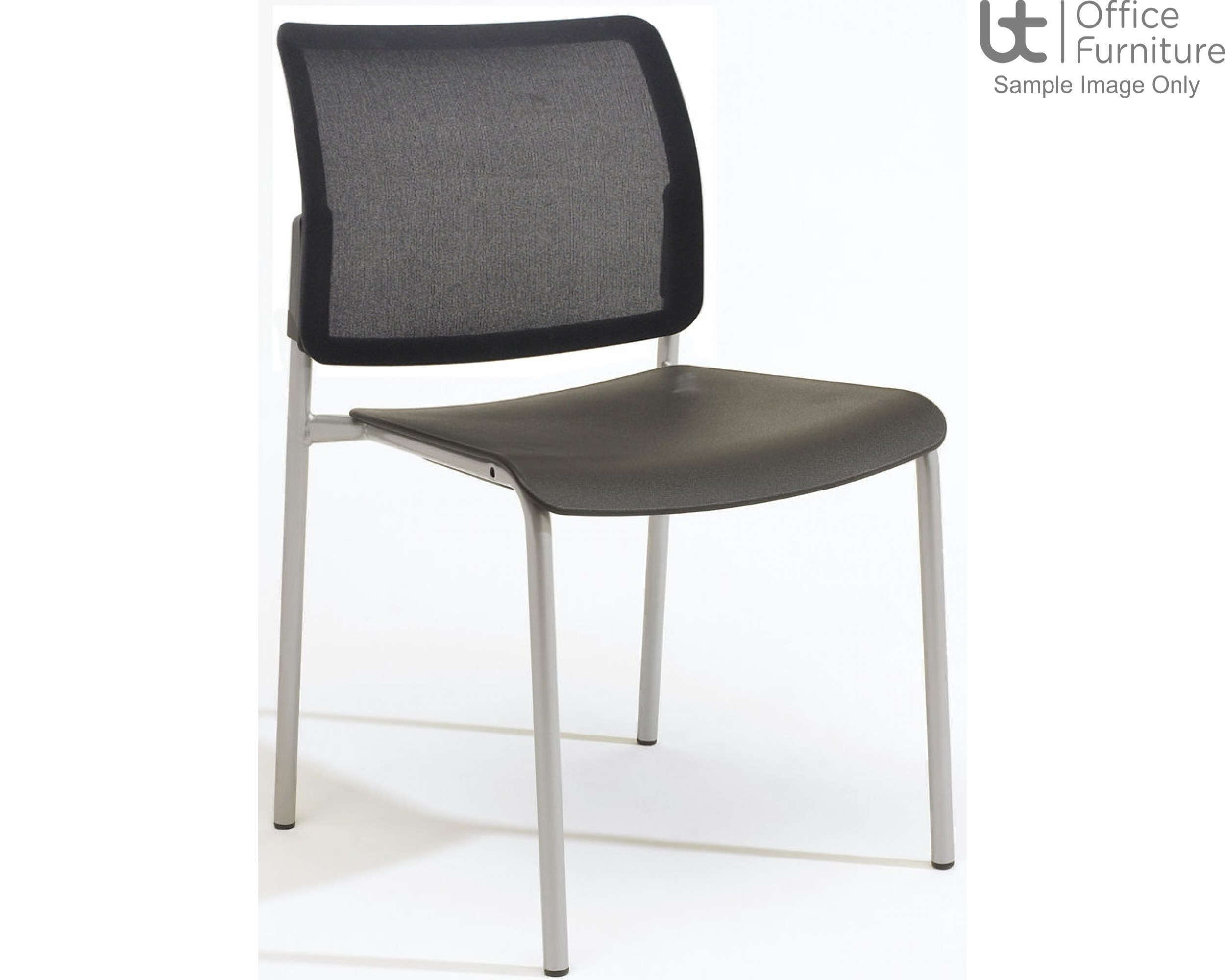 Verco Visitor / Conference Seating - Add 4 legged Mesh Back Plastic Stacking Chair