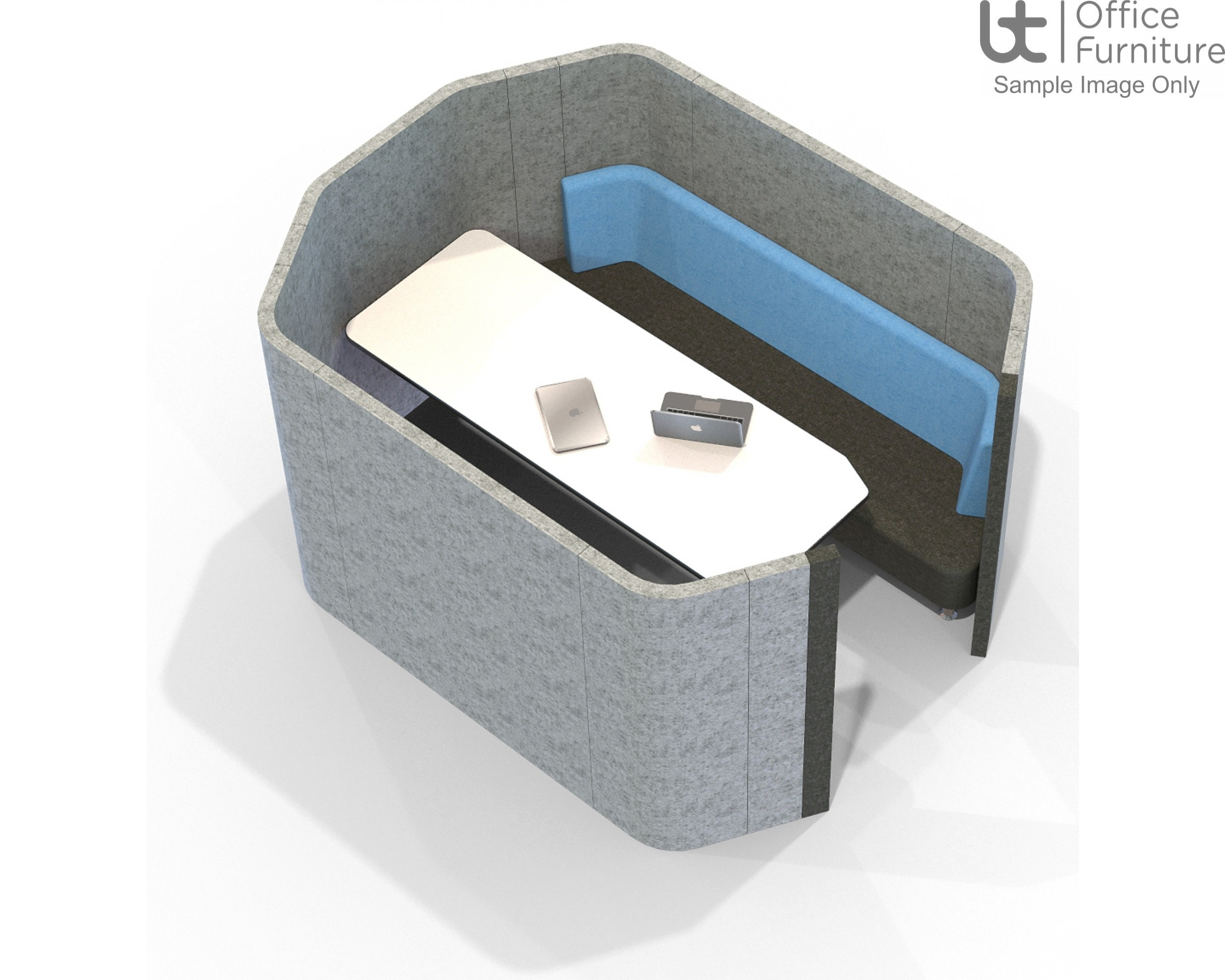 Acoustic Social - 6 Person Octagonal Pod/Booth Including Table (3 Height Options)