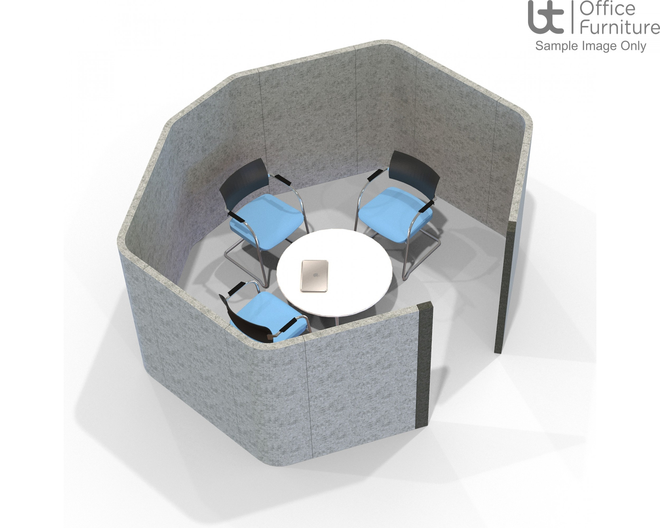 Acoustic Meeting - Octagonal  4 Person Meeting Room Booth Inc Table