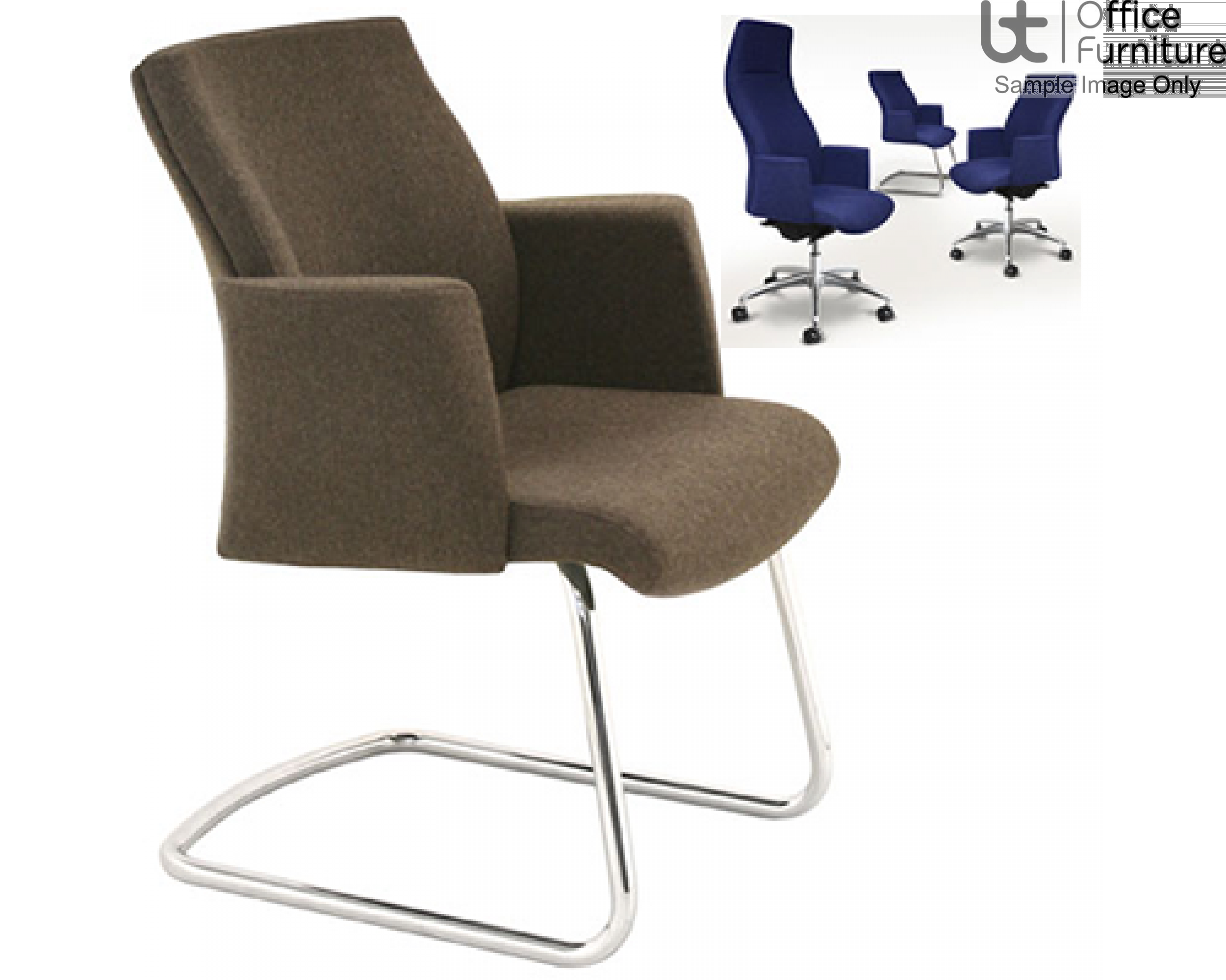 Verco Executive Seating - Verve2 Low Back Cantilever Visitors Chair with Arms